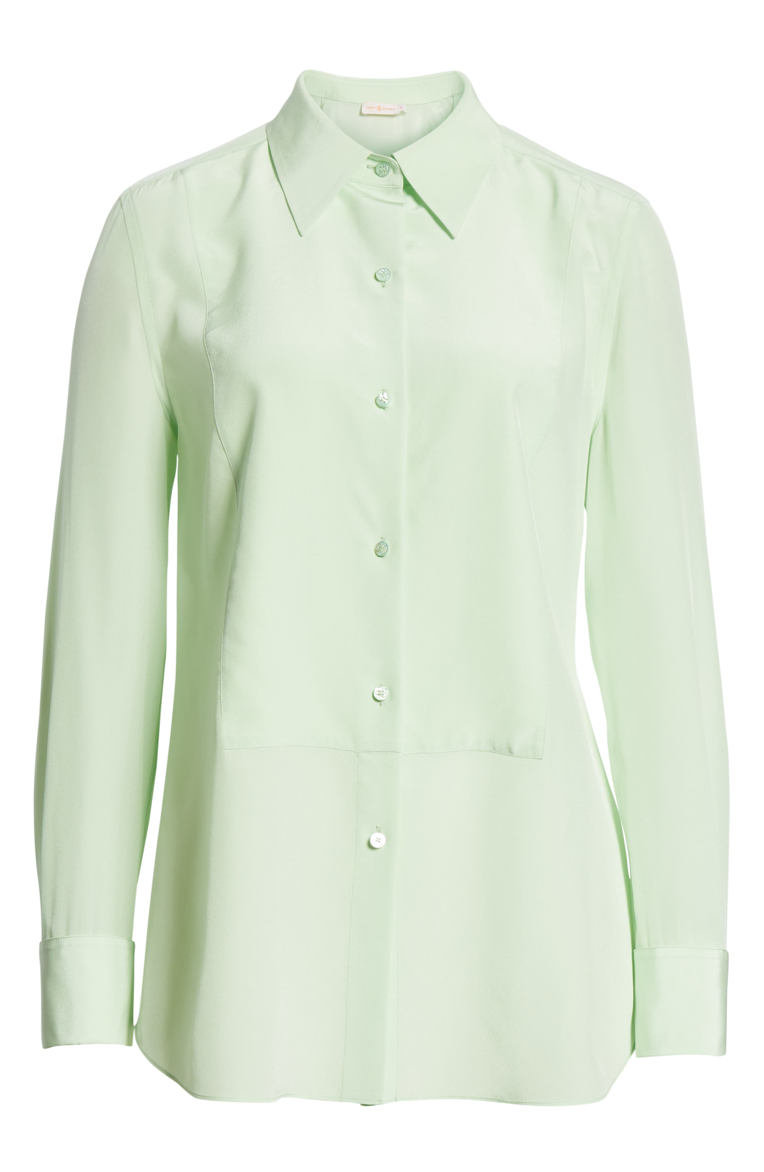Janet Silk Top,                             Alternate thumbnail 6, color,                             Crushed Mint