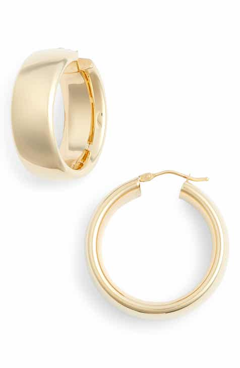 Bony Levy Wide Round Hoop Earrings Nordstrom Exclusive