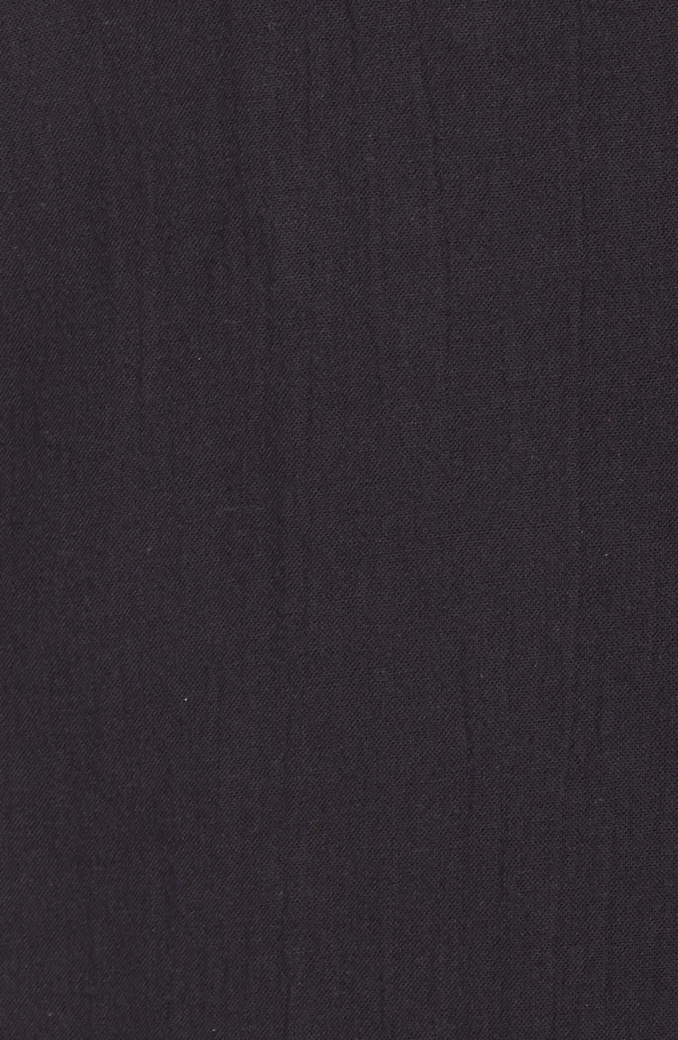 Organic Cotton Blend Kimono Jacket,                             Alternate thumbnail 6, color,                             Black