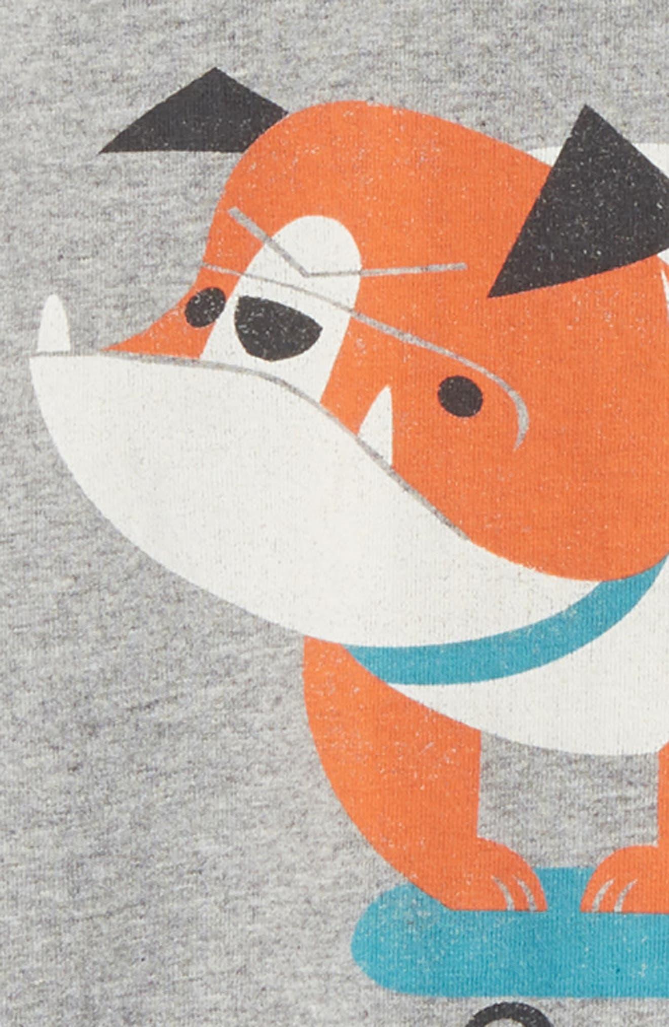 Skating Bulldog Top & Shorts Set,                             Alternate thumbnail 2, color,                             Med Heather Grey
