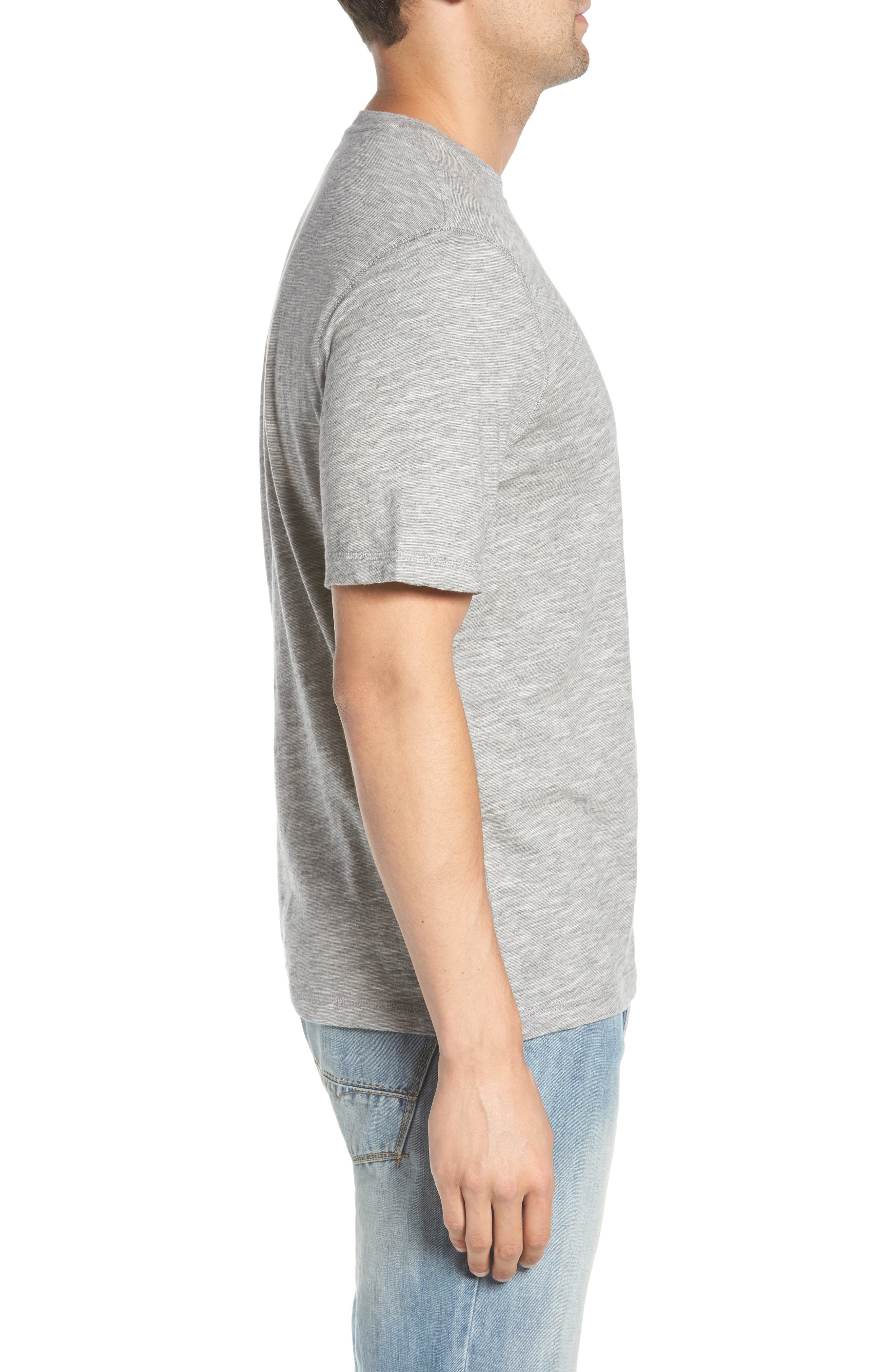 Slubbie Regular Fit Crewneck T-Shirt,                             Alternate thumbnail 3, color,                             Regatta