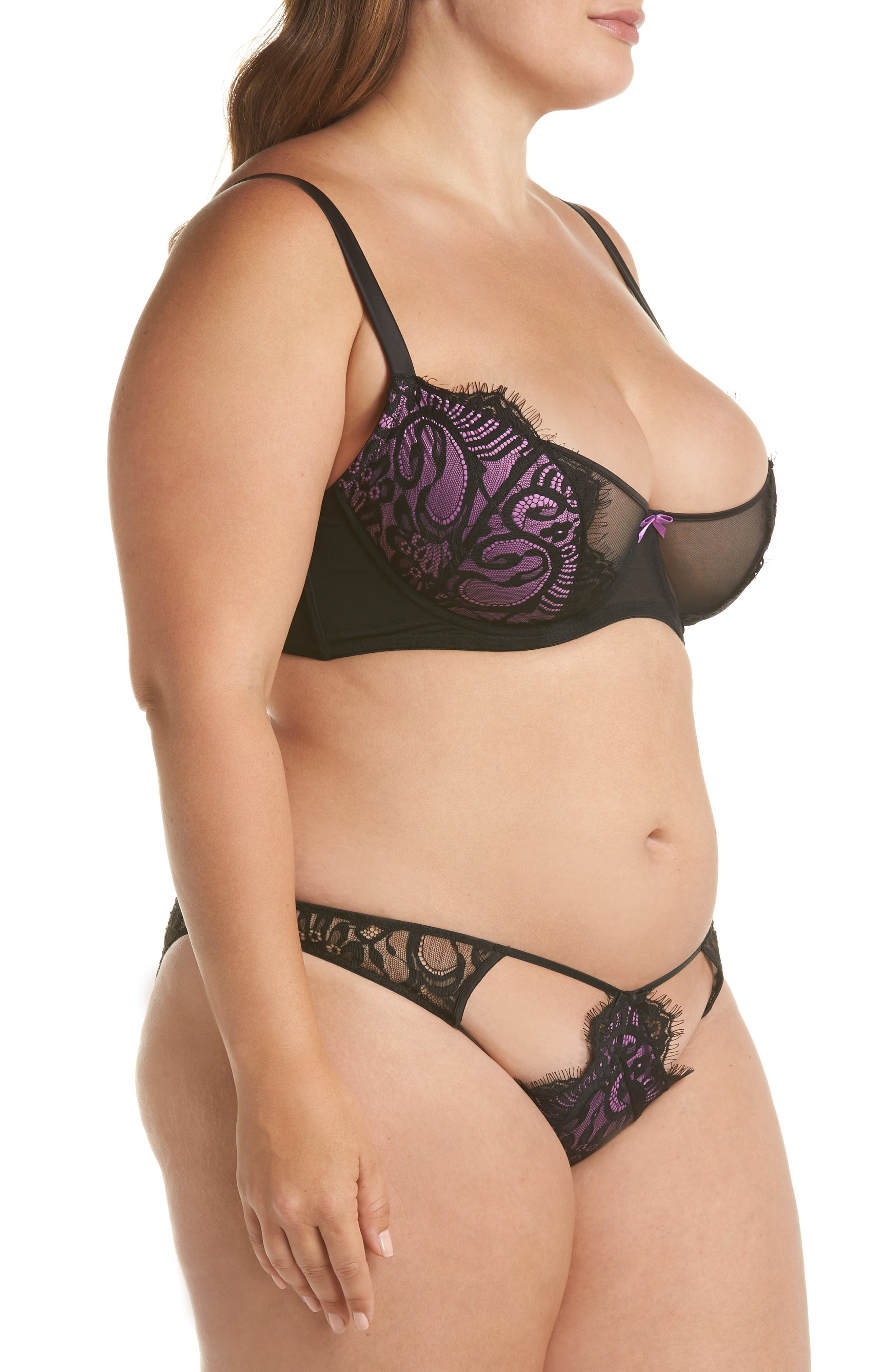 Candy Ultra Underwire Demi Bra,                             Alternate thumbnail 6, color,                             Violet