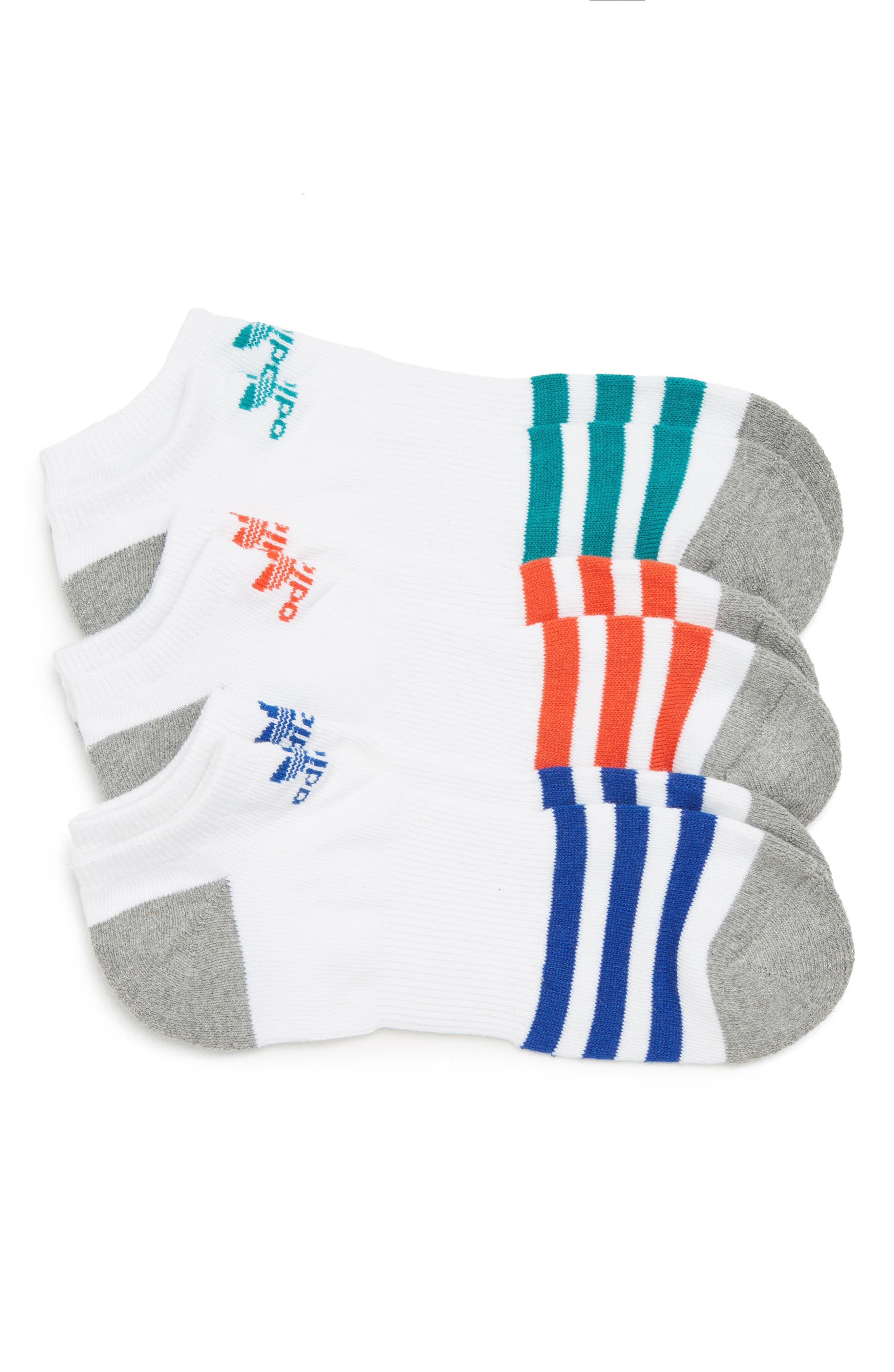 adidas Originals Roller Assorted 3-Pack No-Show Socks