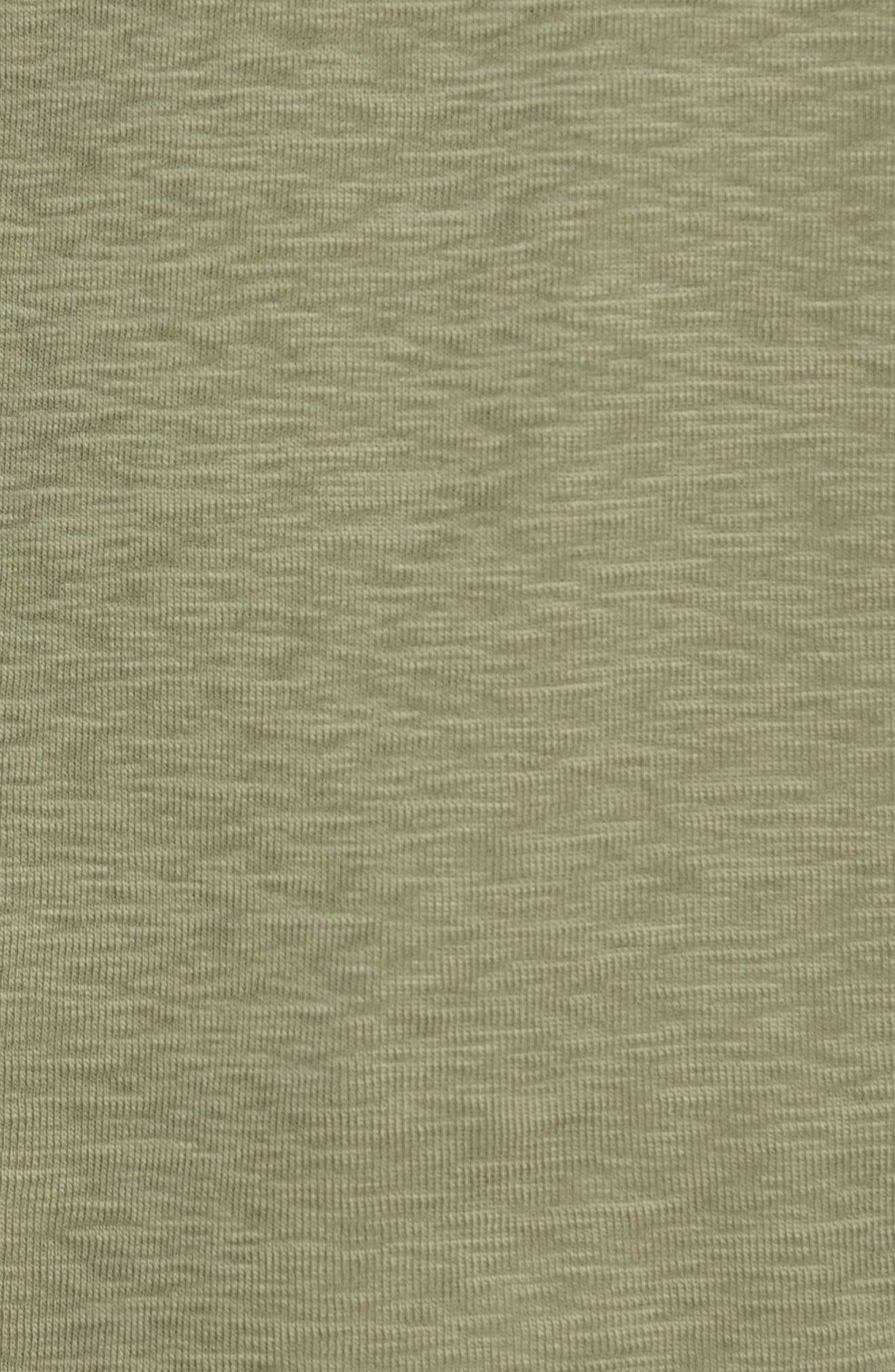 'Base' Short Sleeve Henley,                             Alternate thumbnail 5, color,                             Olive