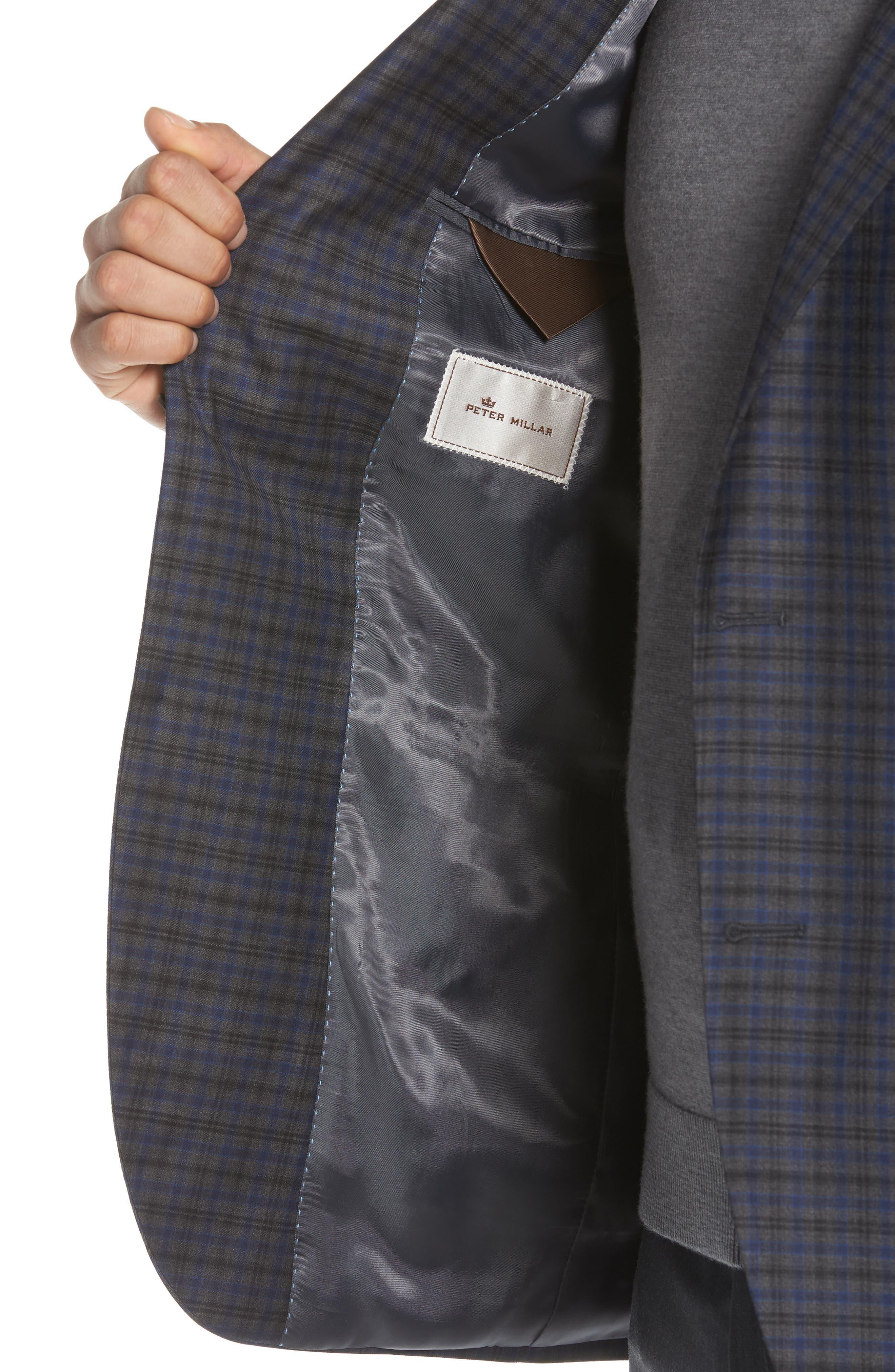 Classic Fit Windowpane Check Wool Sport Coat,                             Alternate thumbnail 4, color,                             Grey