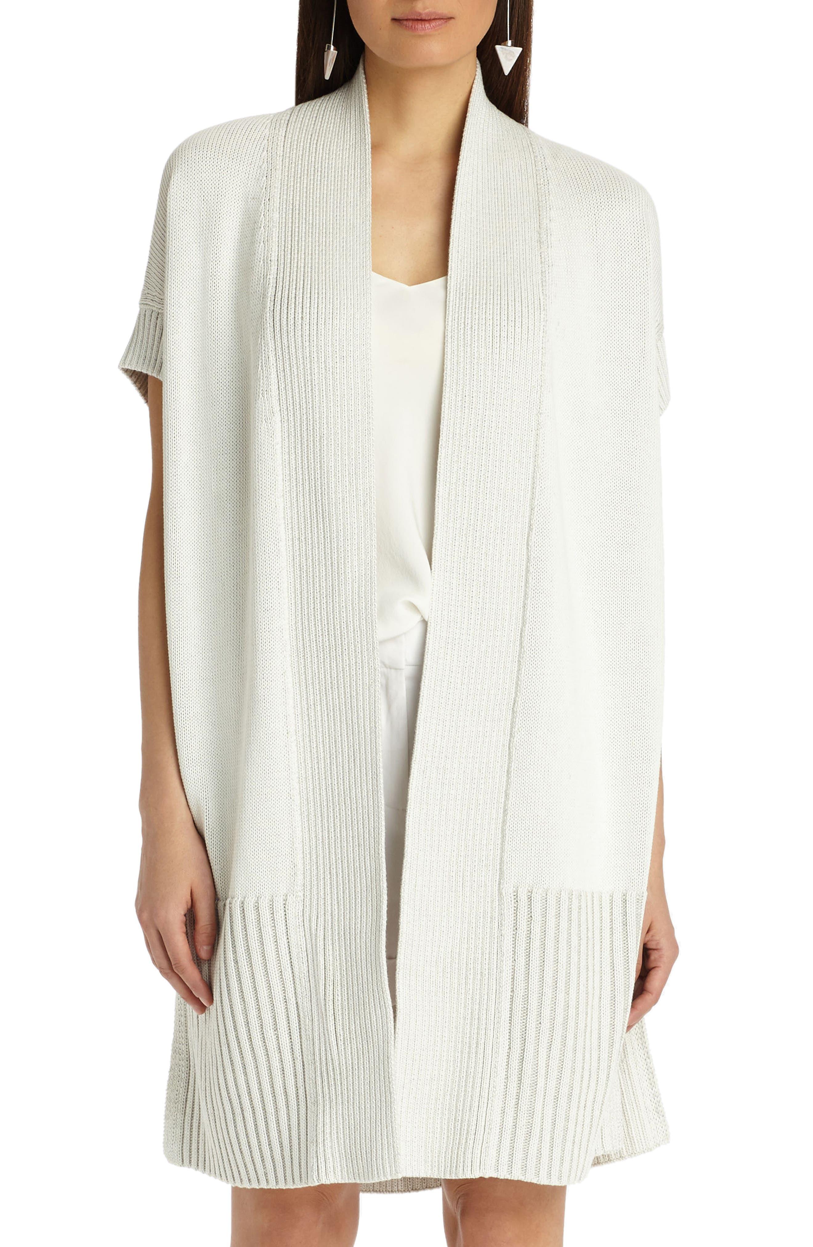 Lafayette 148 New York Vanise Cotton & Silk Cardigan