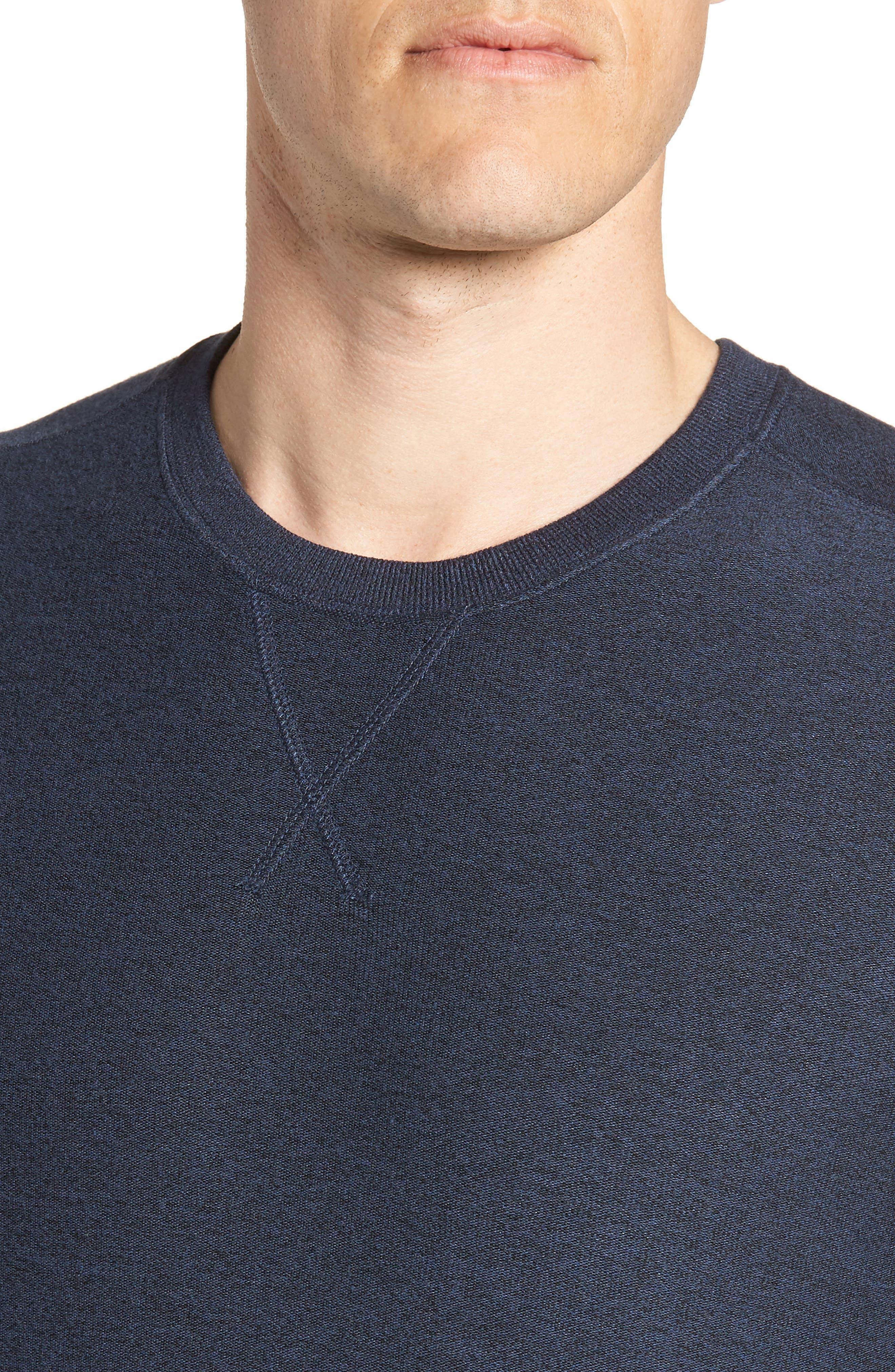 Ultra Soft Crewneck Sweatshirt,                             Alternate thumbnail 4, color,                             Navy Indigo Marl