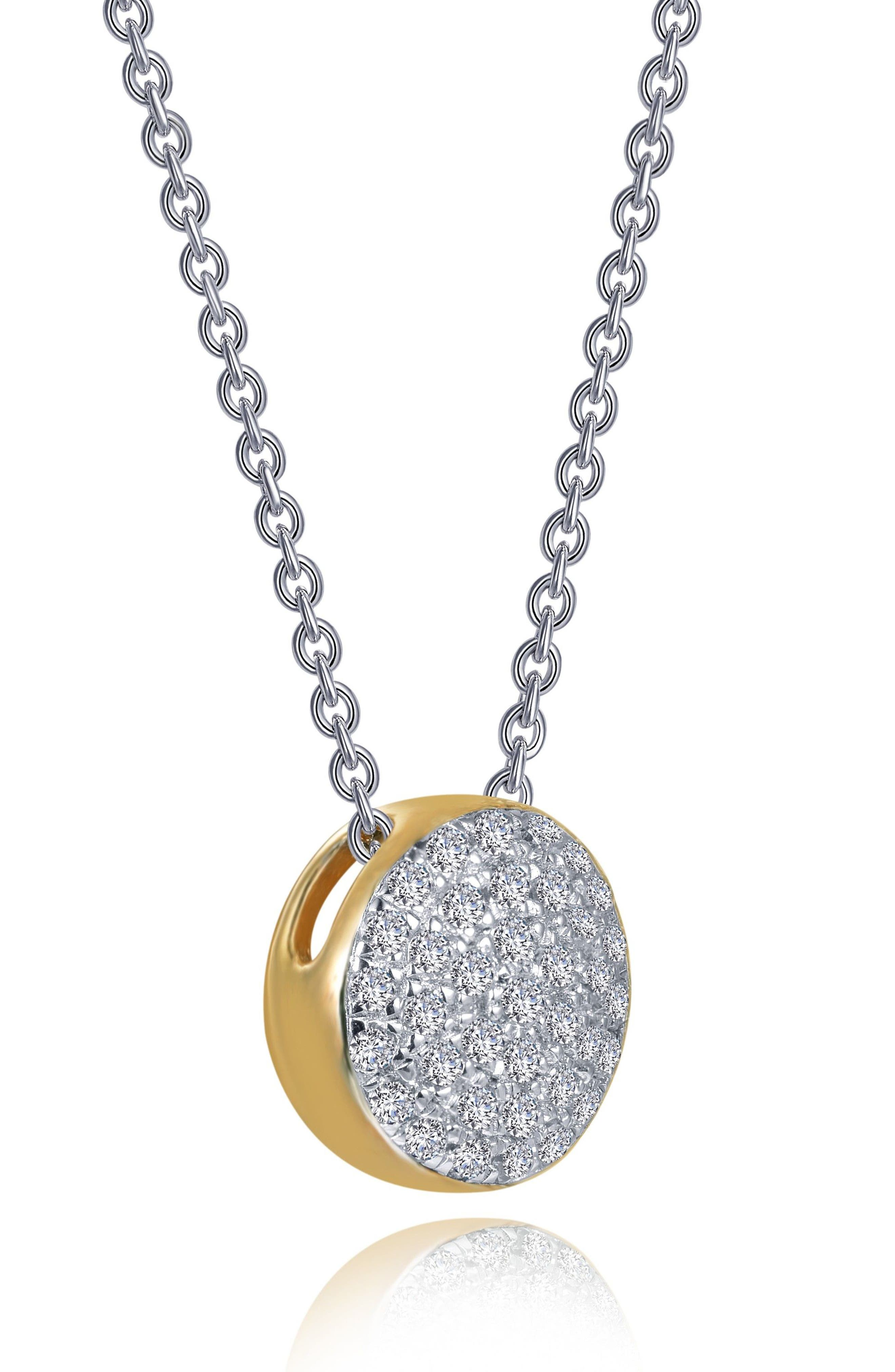 Two-Tone Pavé Button Choker Necklace,                         Main,                         color, Silver/ Gold/ Clear
