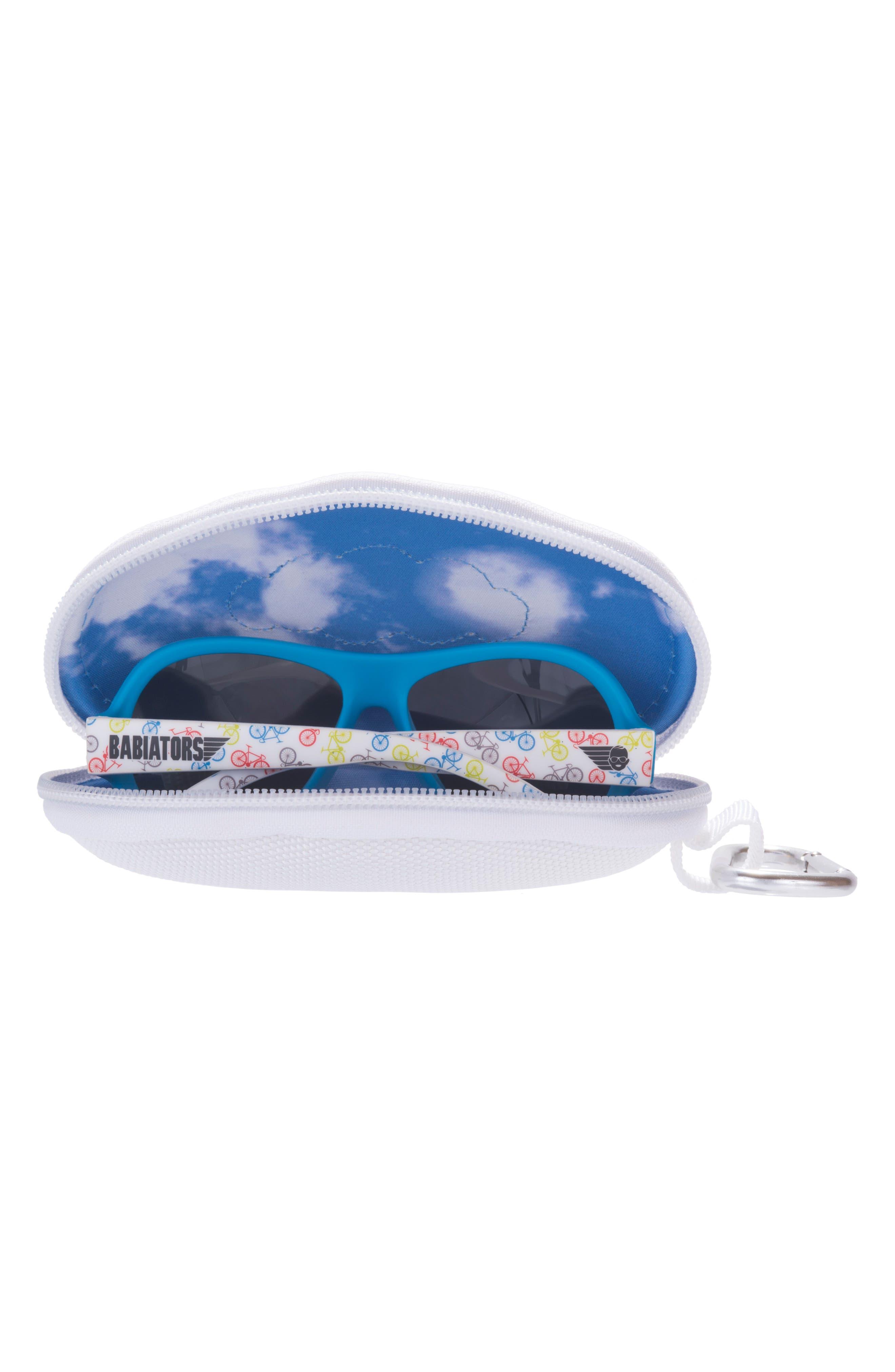 Bicycle Print Polarized Aviator Sunglasses,                             Alternate thumbnail 2, color,                             Wheel Deal