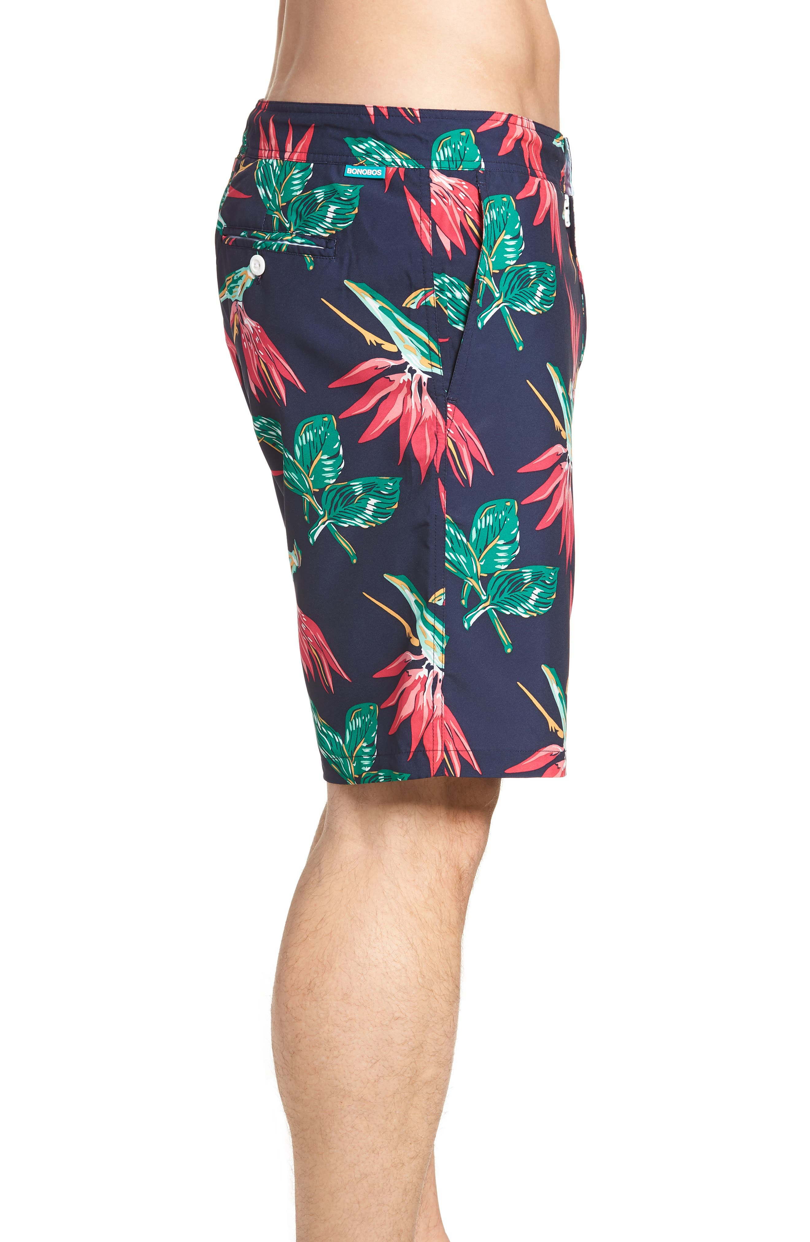 Banzai 9-Inch Swim Trunks,                             Alternate thumbnail 3, color,                             Bird Of Paradise