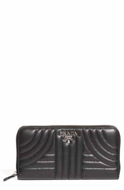 a58da5034de3 Prada Quilted Leather Zip Around Continental Wallet