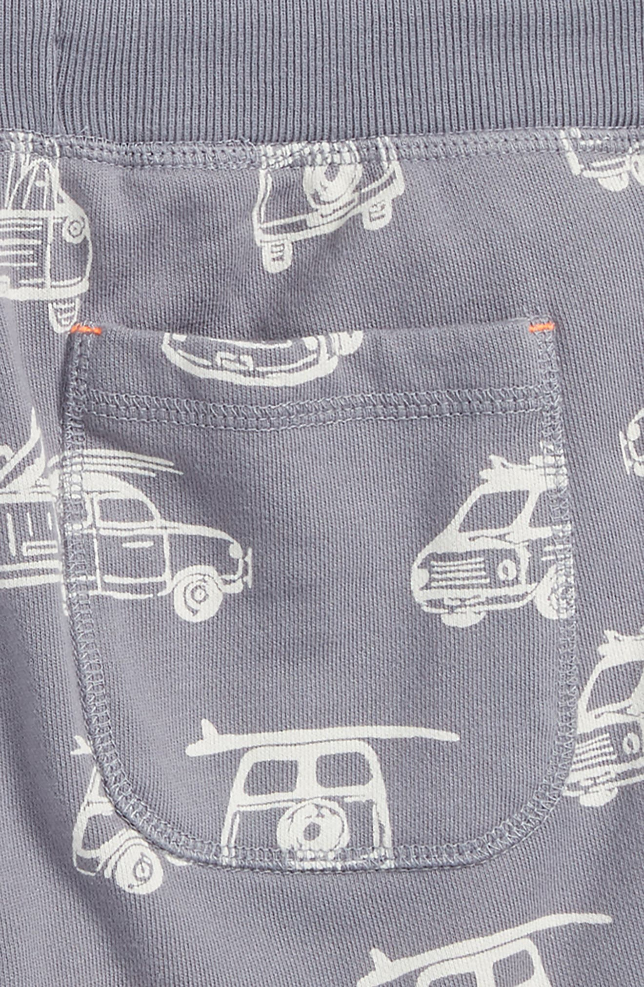 French Terry Shorts,                             Alternate thumbnail 3, color,                             Raft Grey Surf Vans