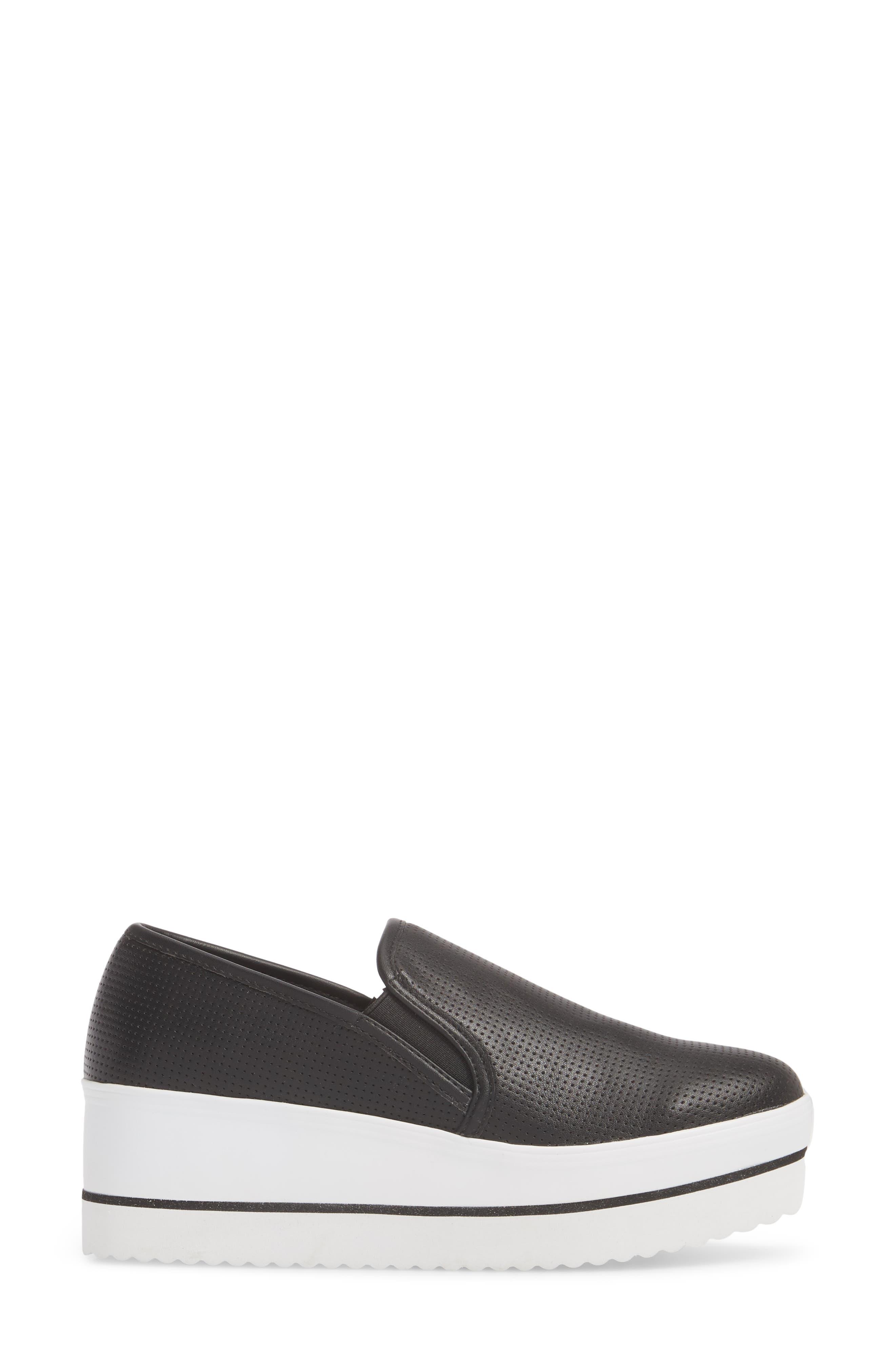 Becca Slip-On Sneaker,                             Alternate thumbnail 3, color,                             Black