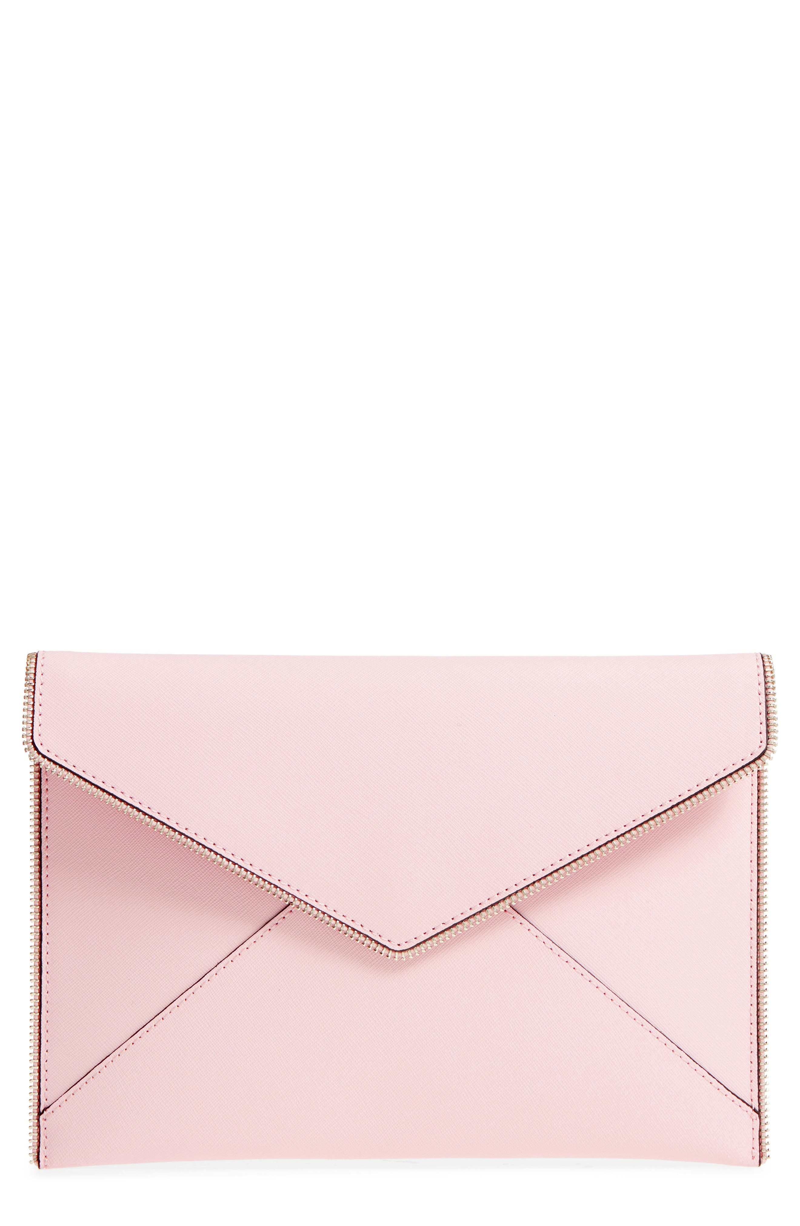 Leo Envelope Clutch,                             Main thumbnail 1, color,                             Peony