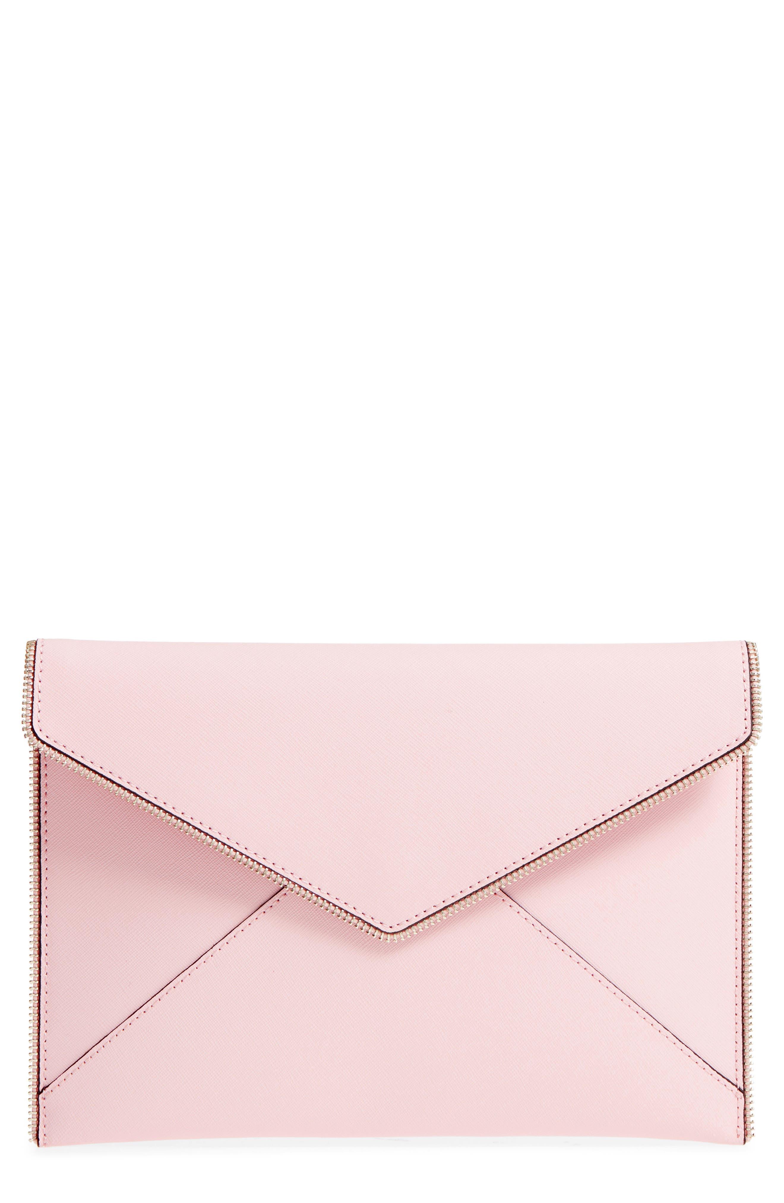 Leo Envelope Clutch,                         Main,                         color, Peony