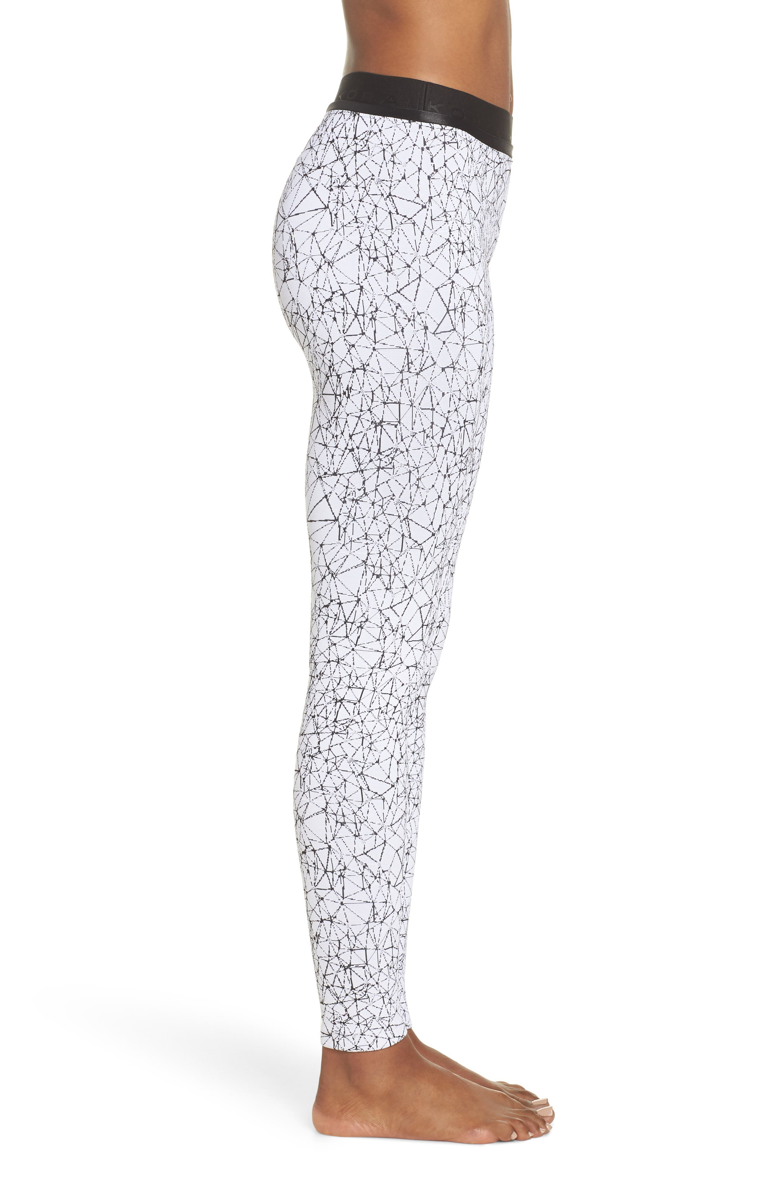 Molecular Sloane High Waist Leggings,                             Alternate thumbnail 3, color,                             Molecular White/ Black