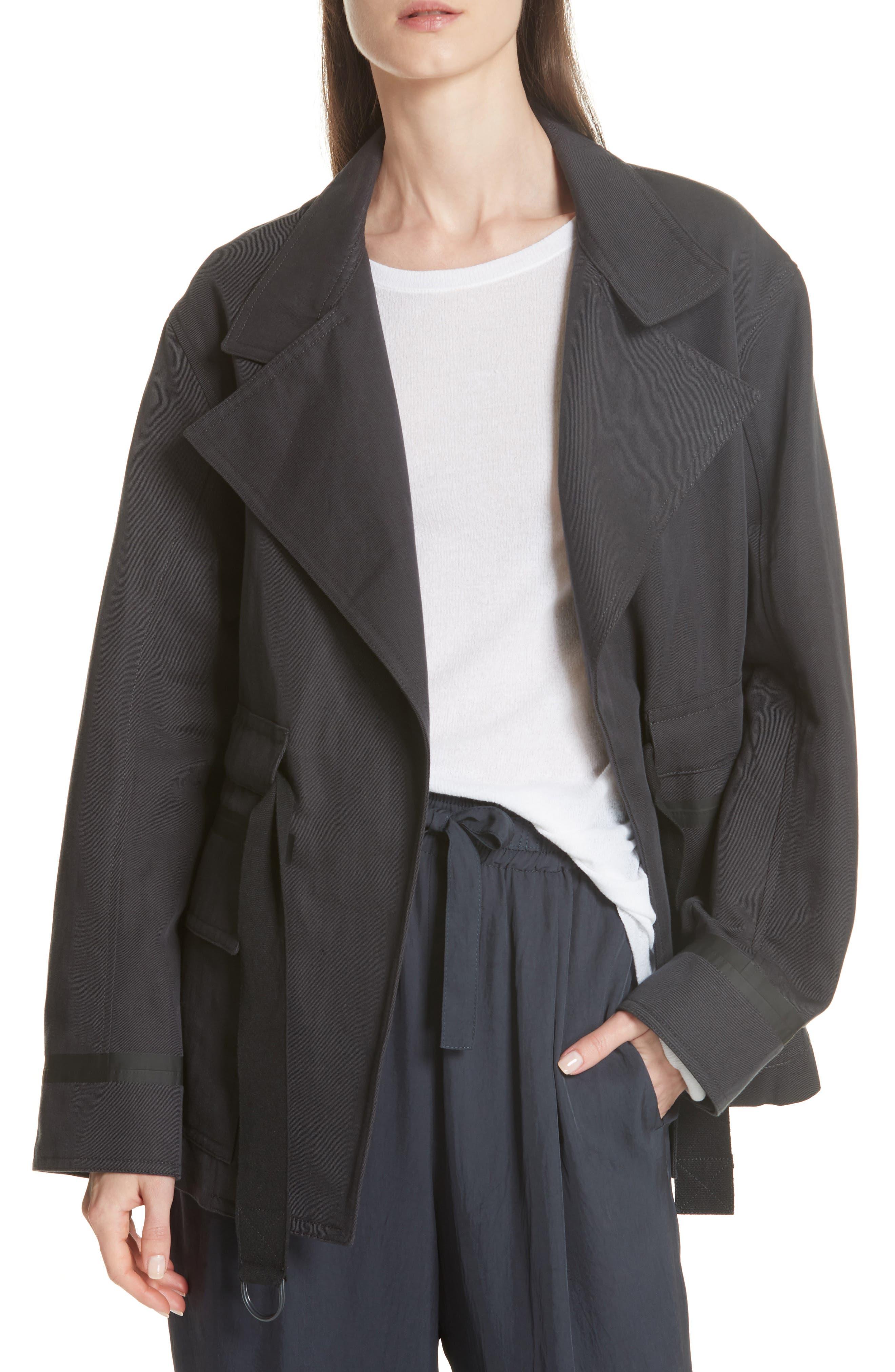 Belted Utility Jacket,                         Main,                         color, Slate