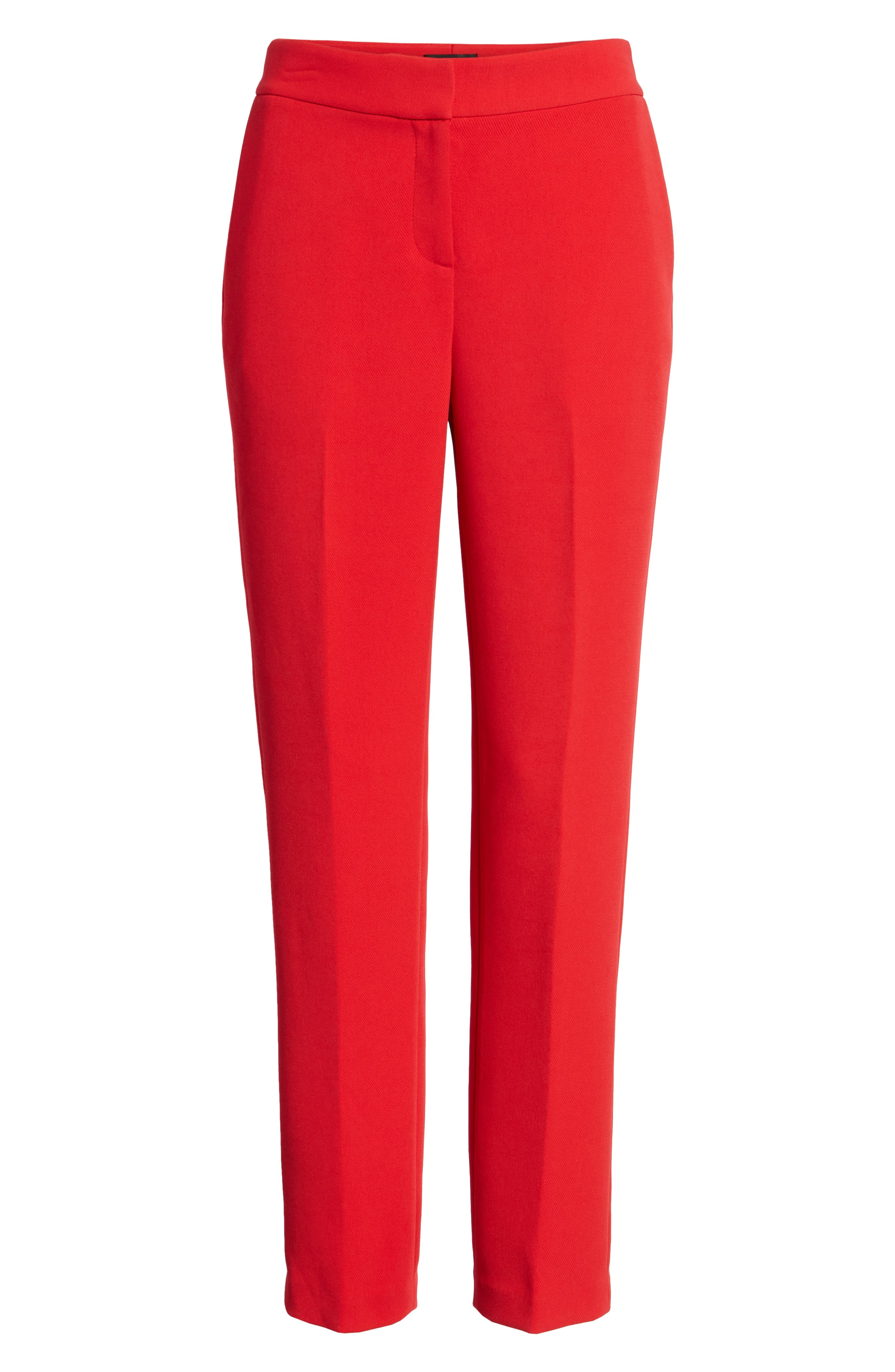 High Waist Straight Pants,                             Alternate thumbnail 6, color,                             Red Chinoise