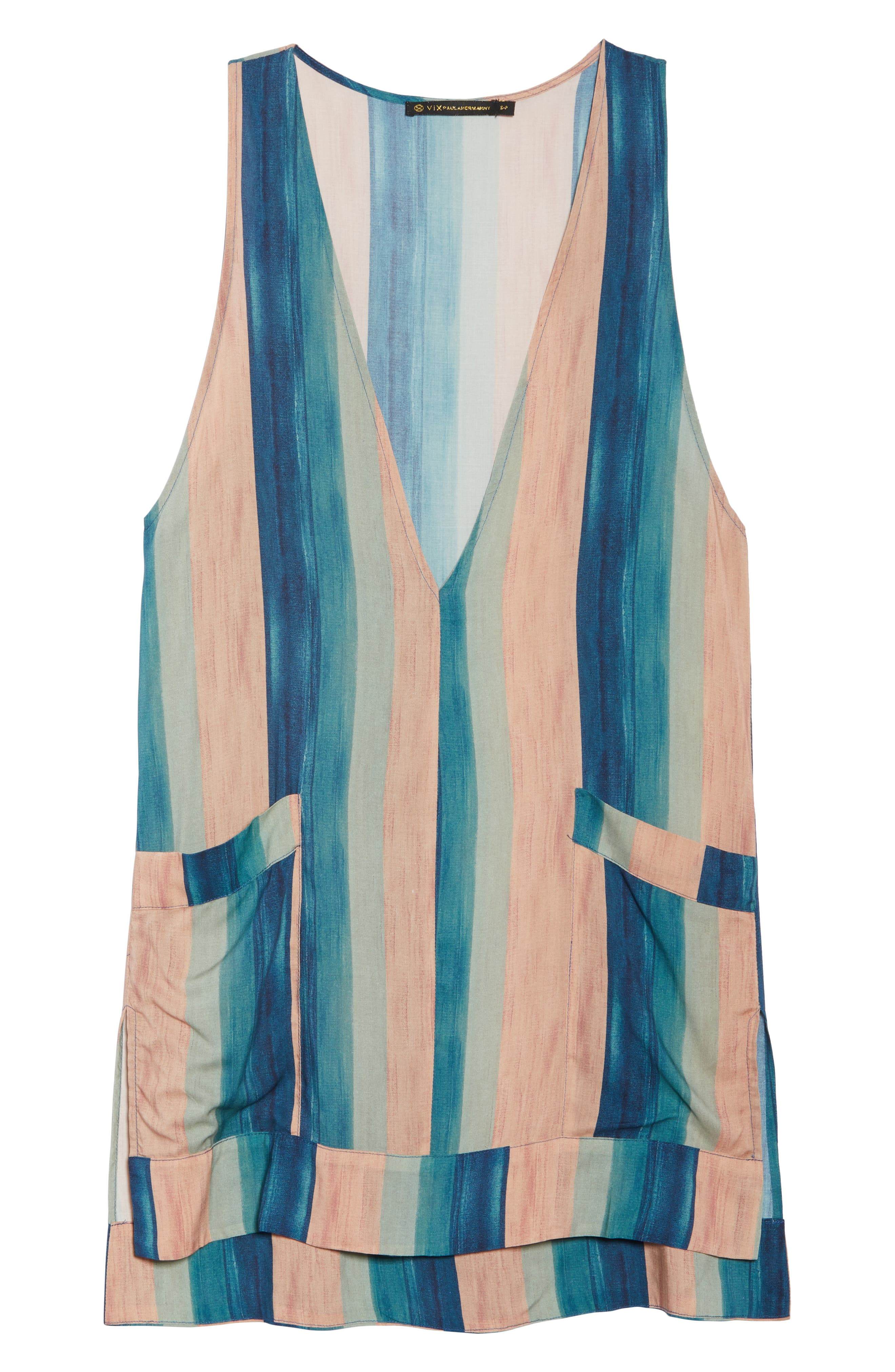 Mani Cecile Cover-Up Caftan,                             Alternate thumbnail 6, color,                             Blue Multi