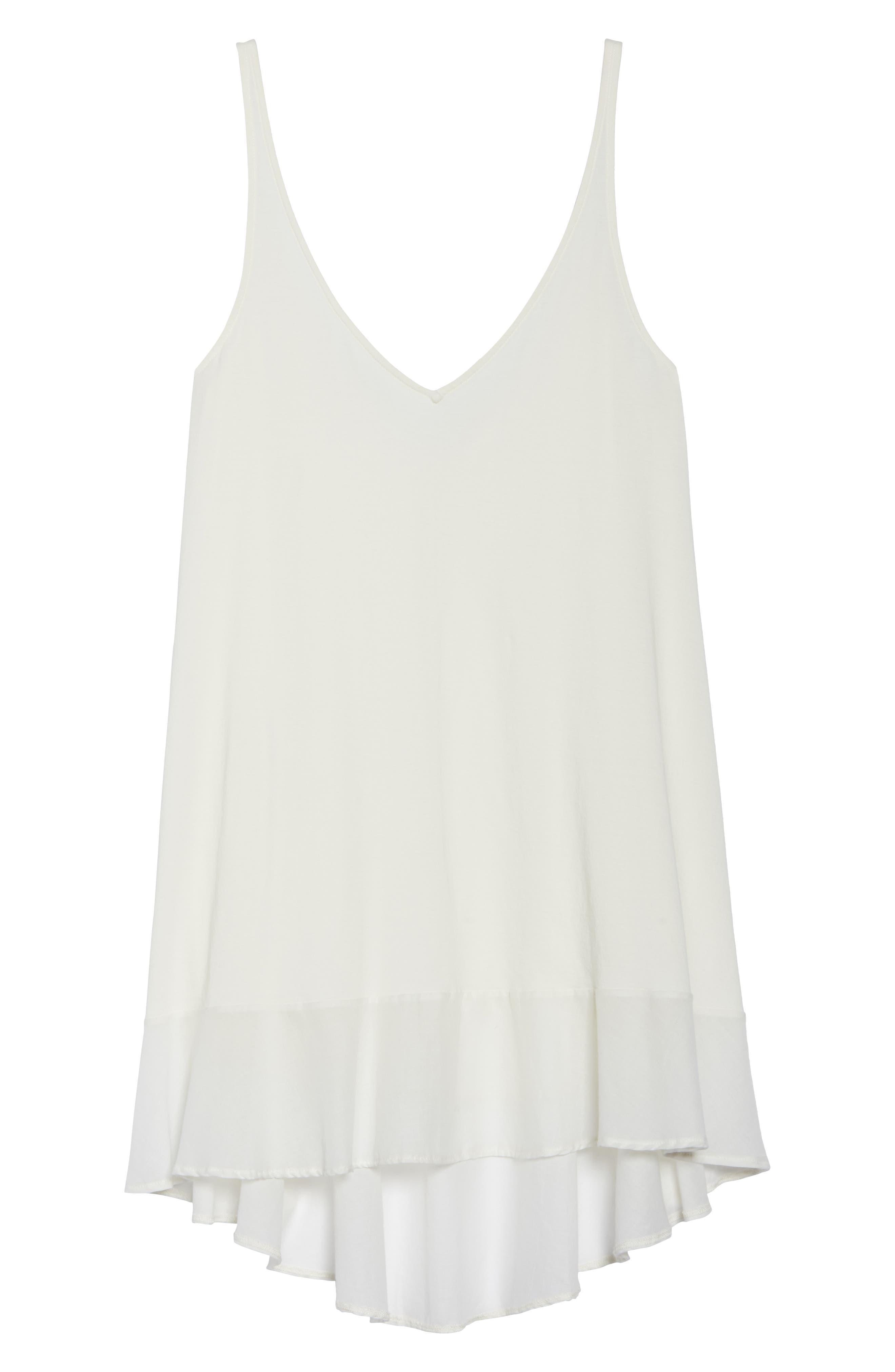 Bettina Pima Cotton Voile Nightgown,                             Alternate thumbnail 6, color,                             Gardenia