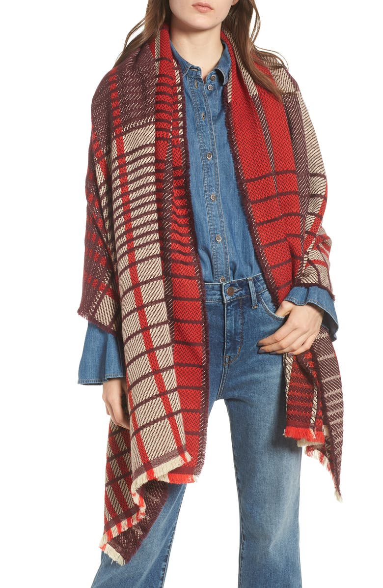 Treasure & Bond Plaid Blanket Wrap | Nordstrom