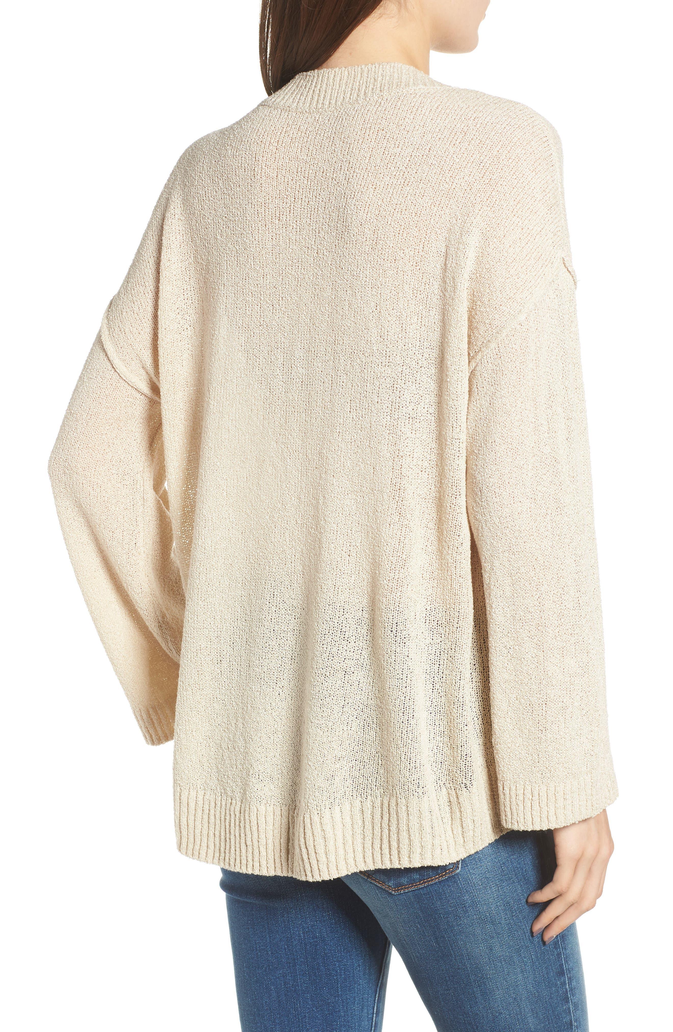 Exposed Seam Sweater,                             Alternate thumbnail 2, color,                             Beige Birch