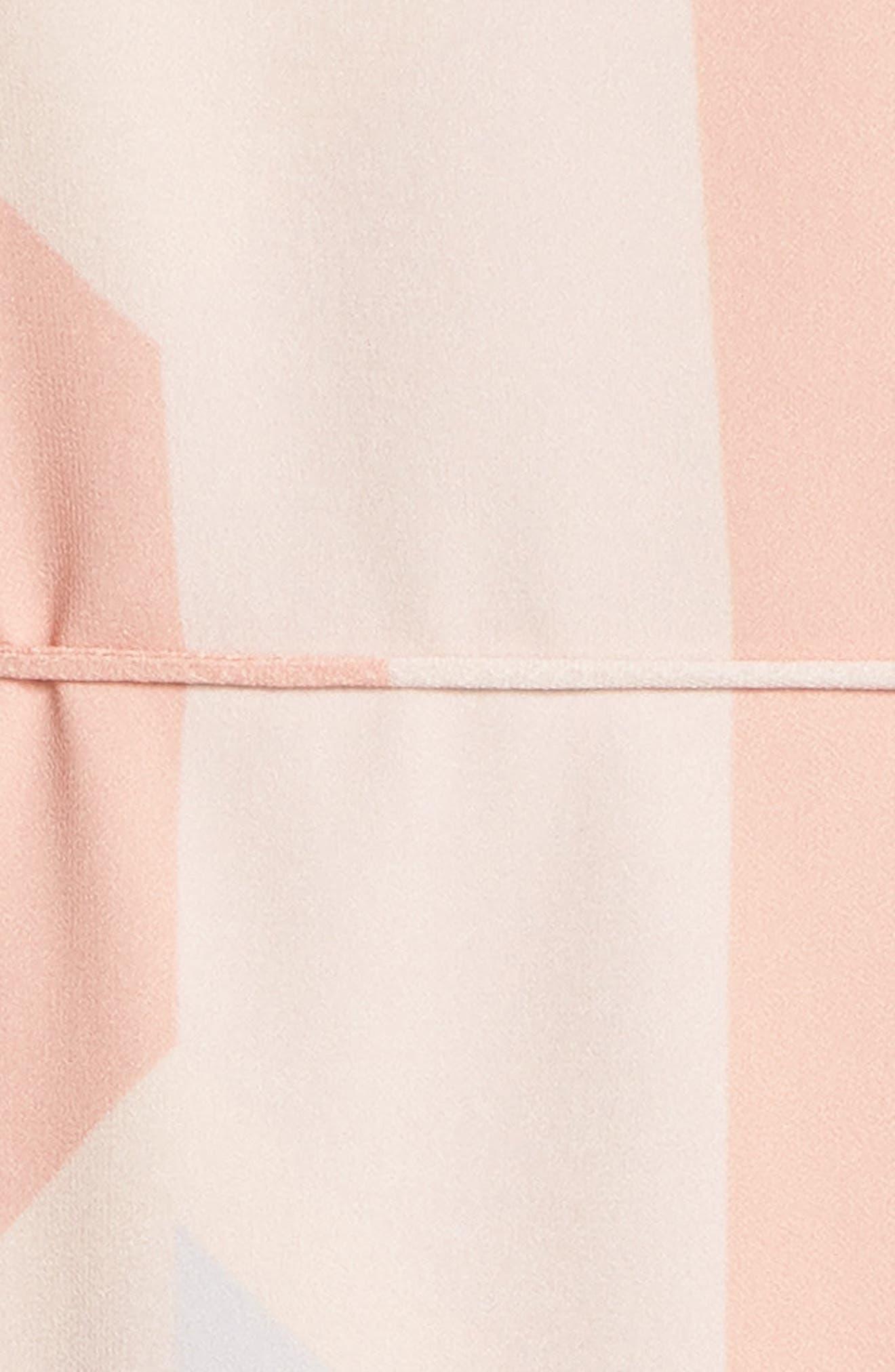 Goldie Tassel Pleated Chiffon Midi Dress,                             Alternate thumbnail 3, color,                             Print