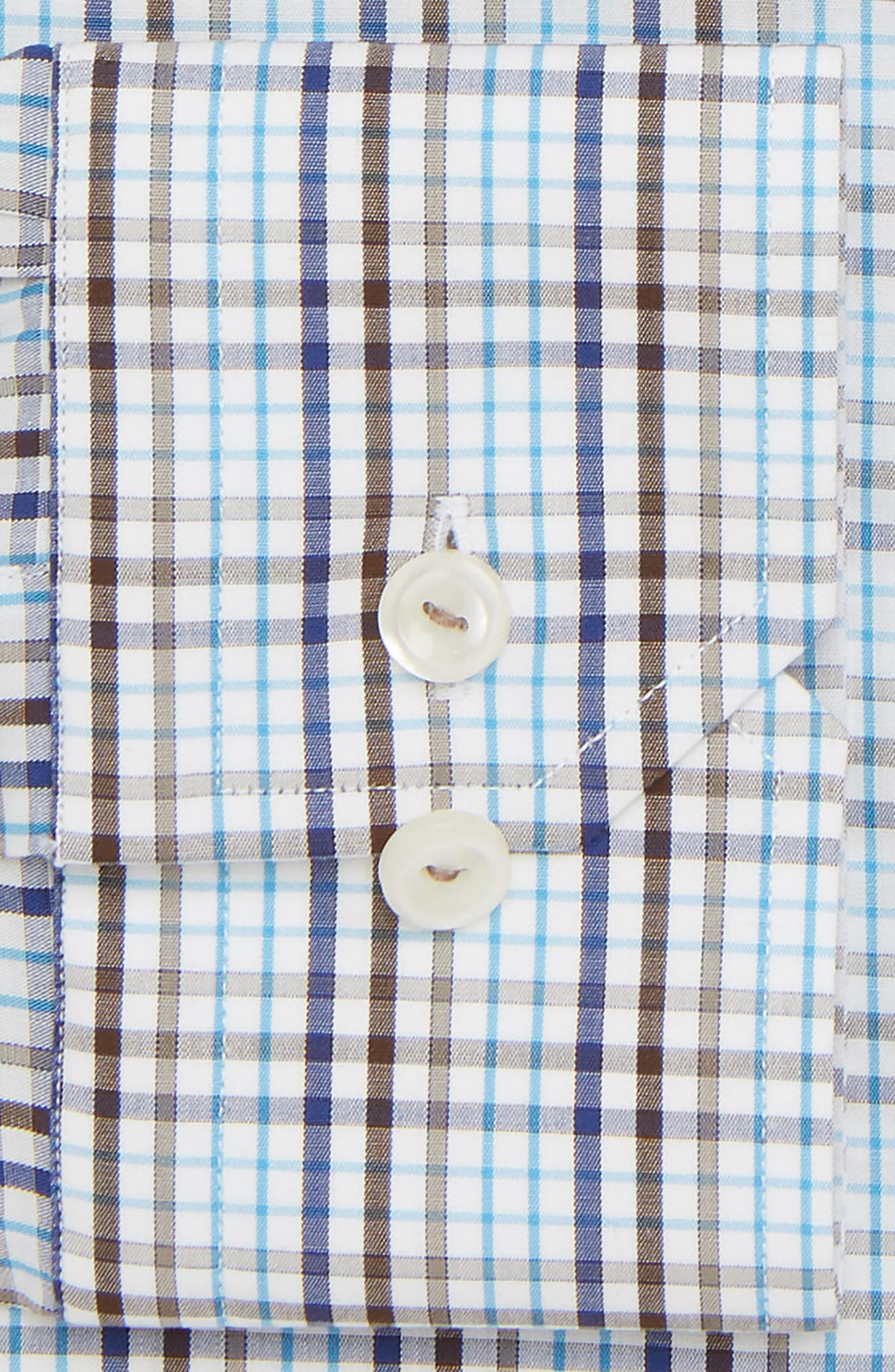 Contemporary Fit Check Dress Shirt,                             Alternate thumbnail 5, color,                             Multi