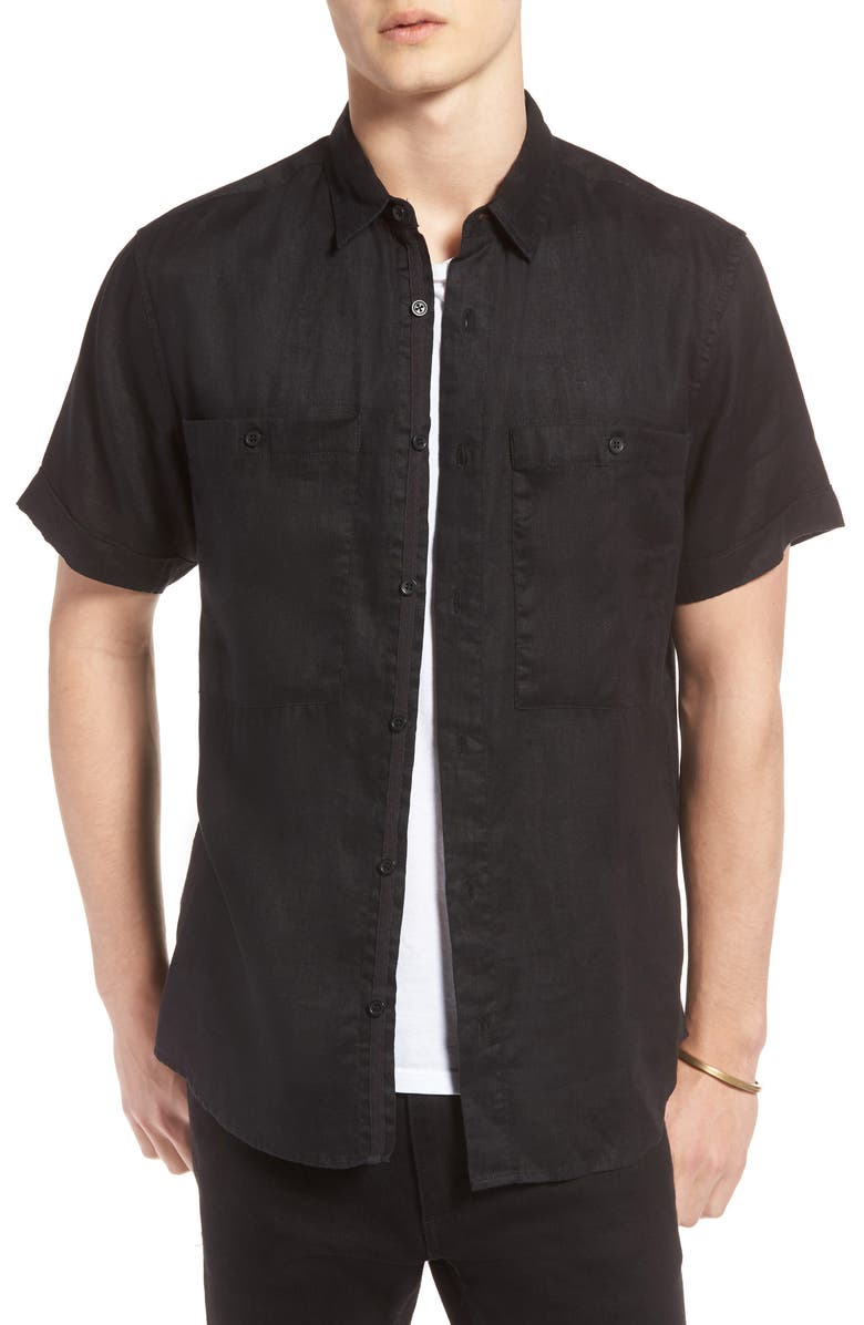 Pocket Linen Sport Shirt