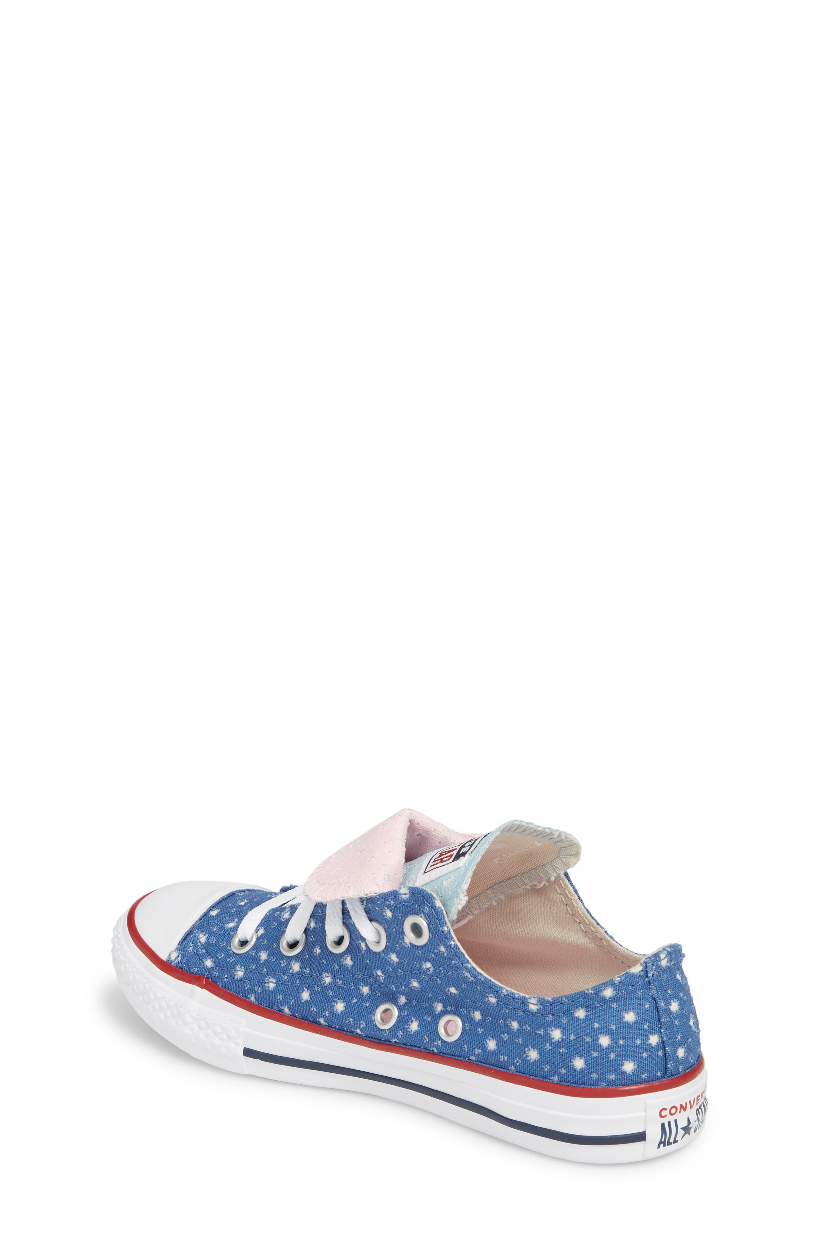 Chuck Taylor<sup>®</sup> All Star<sup>®</sup> Double Tongue Sneaker,                             Alternate thumbnail 2, color,                             Nightfall Blue