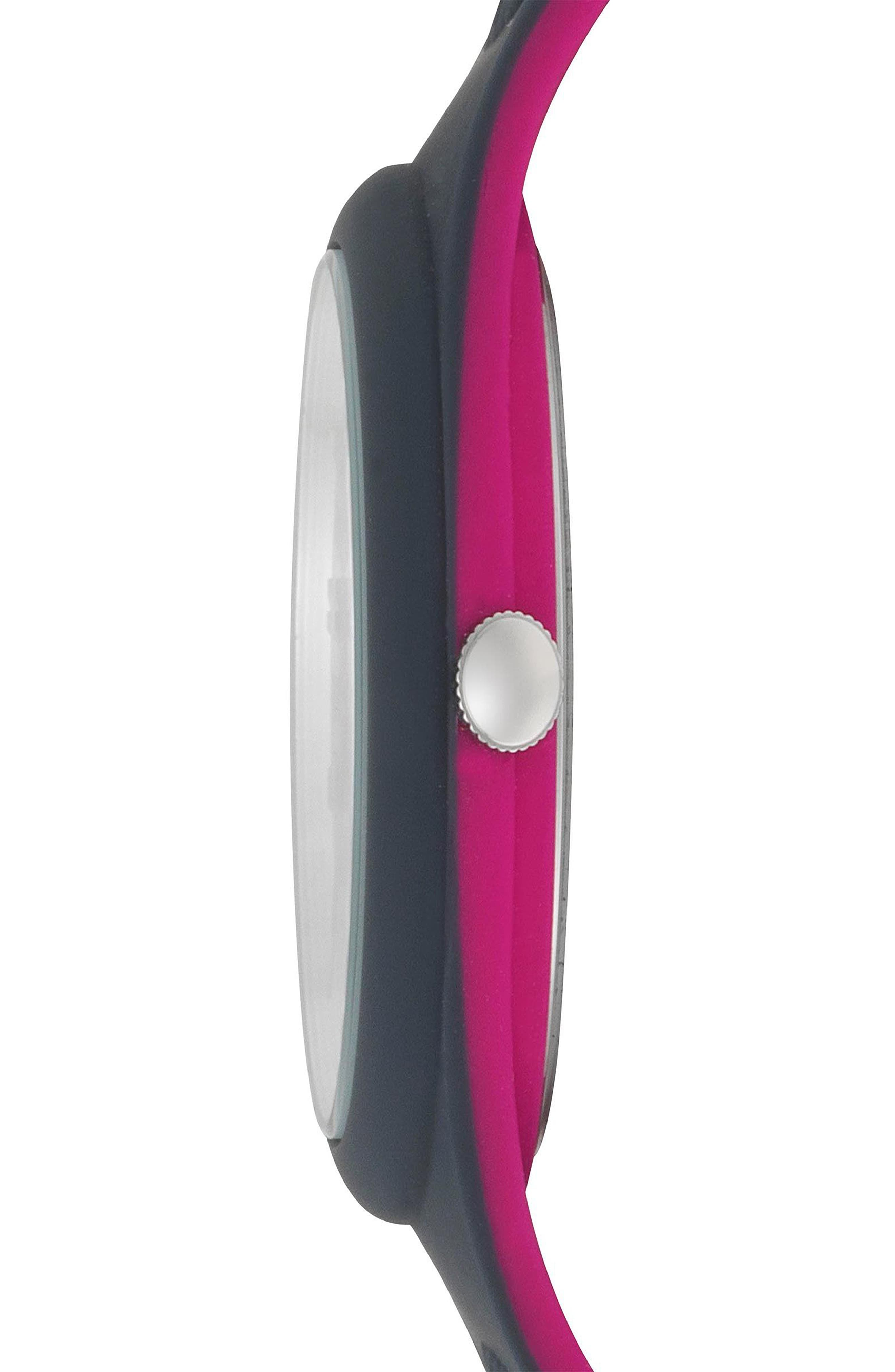 VERSUS by Versace Fire Island Silicone Strap Watch, 39mm,                             Alternate thumbnail 2, color,                             Grey/ Fuchsia