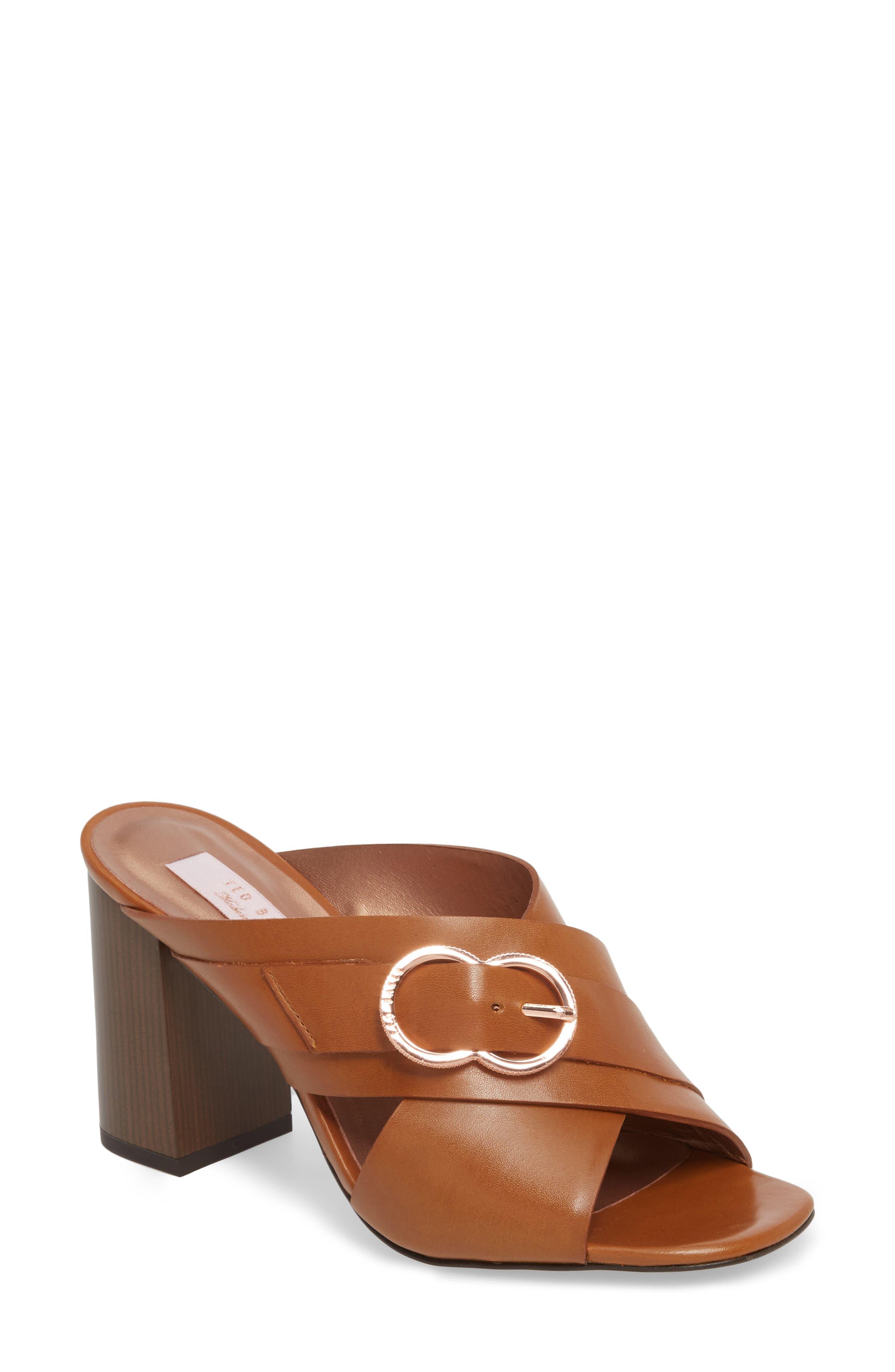 Maladas Slide Sandal,                         Main,                         color, Tan Leather