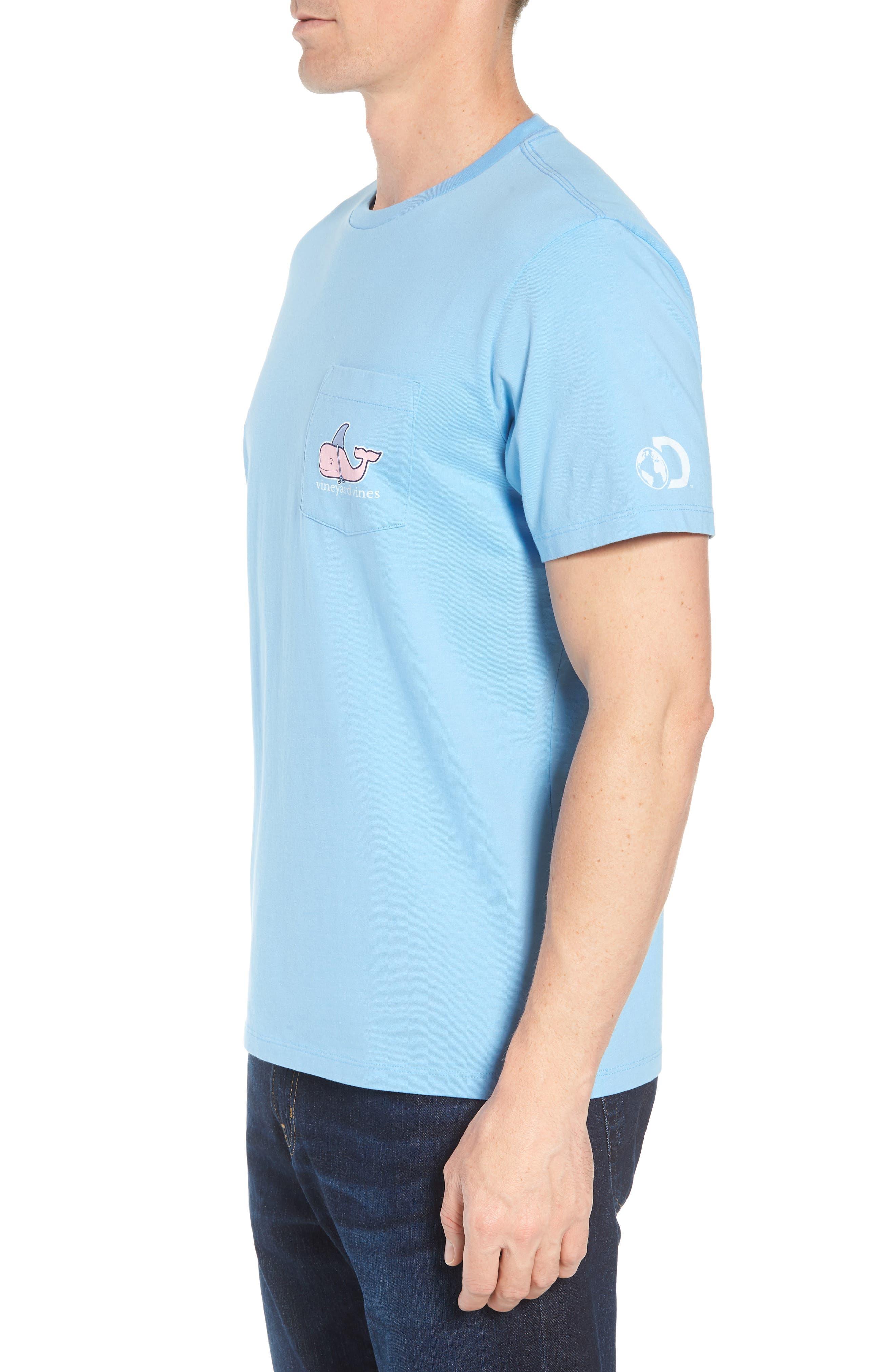 x Shark Week<sup>™</sup> Decoy Whale Pocket T-Shirt,                             Alternate thumbnail 3, color,                             Ocean Breeze