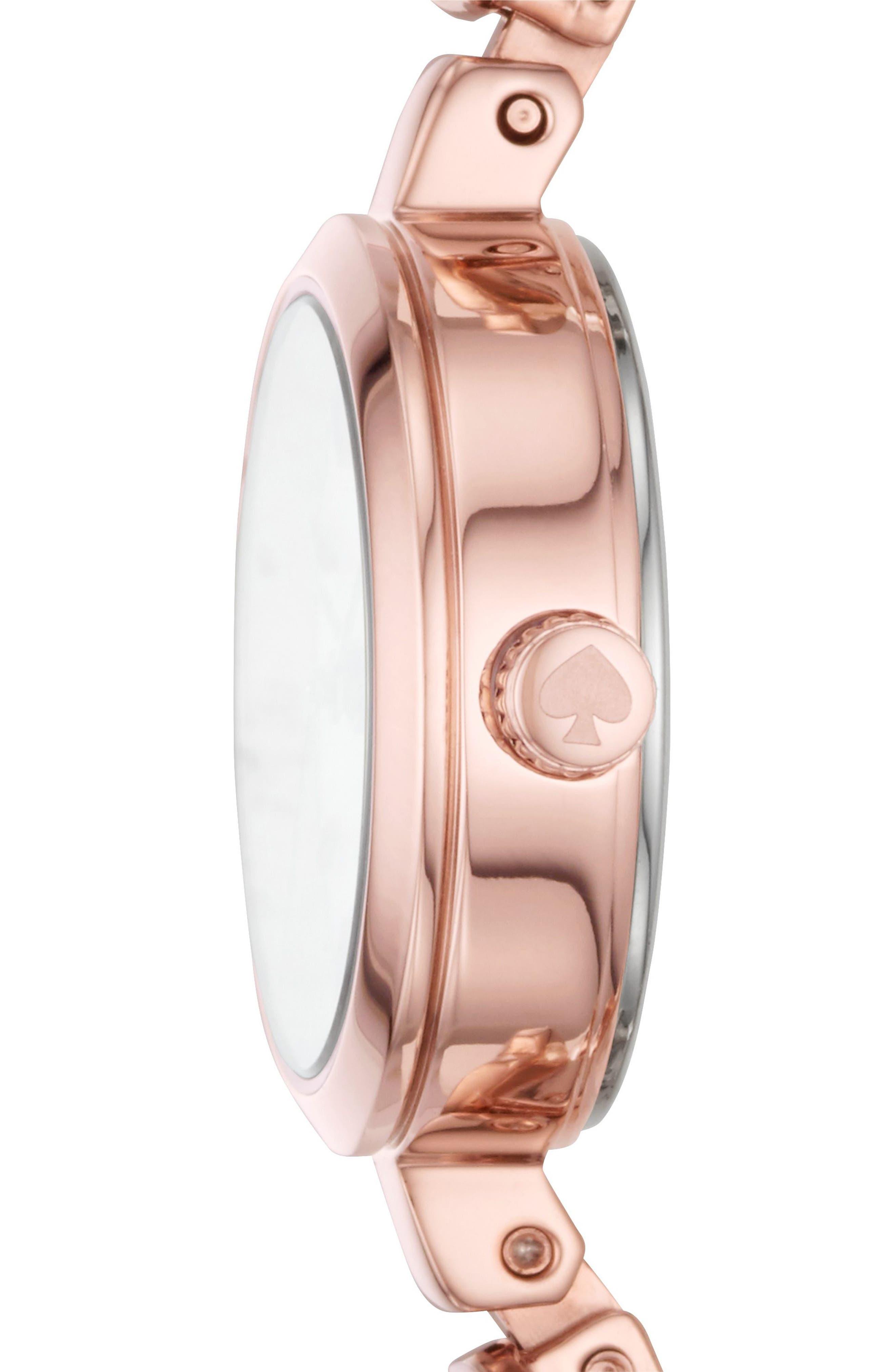 kate spade metro bracelet watch, 20mm,                             Alternate thumbnail 2, color,                             Pink/ Mop/ Pink
