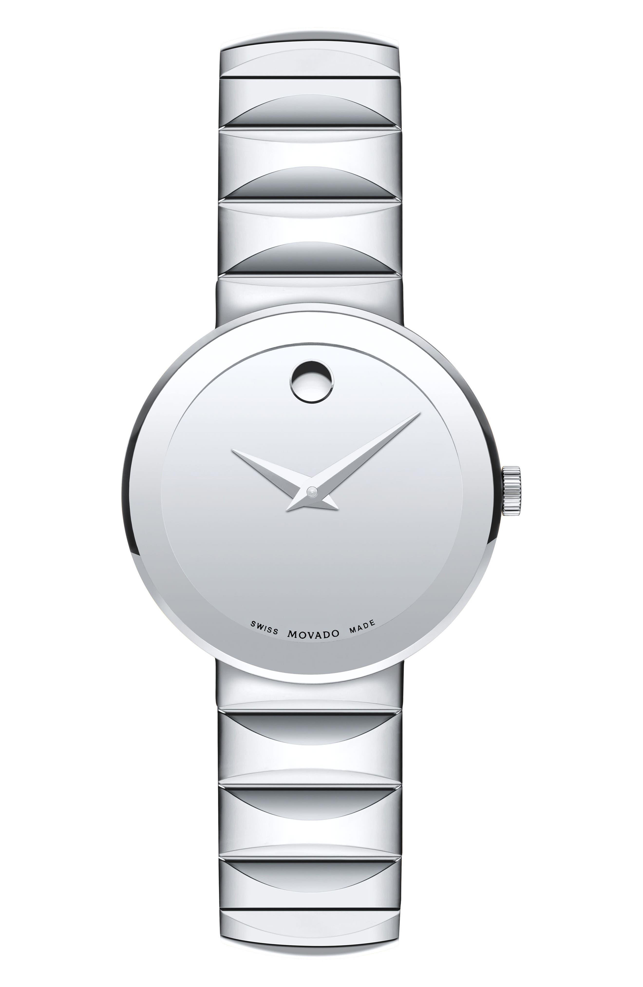 Sapphire Bracelet Watch, 26mm,                             Main thumbnail 1, color,                             Silver