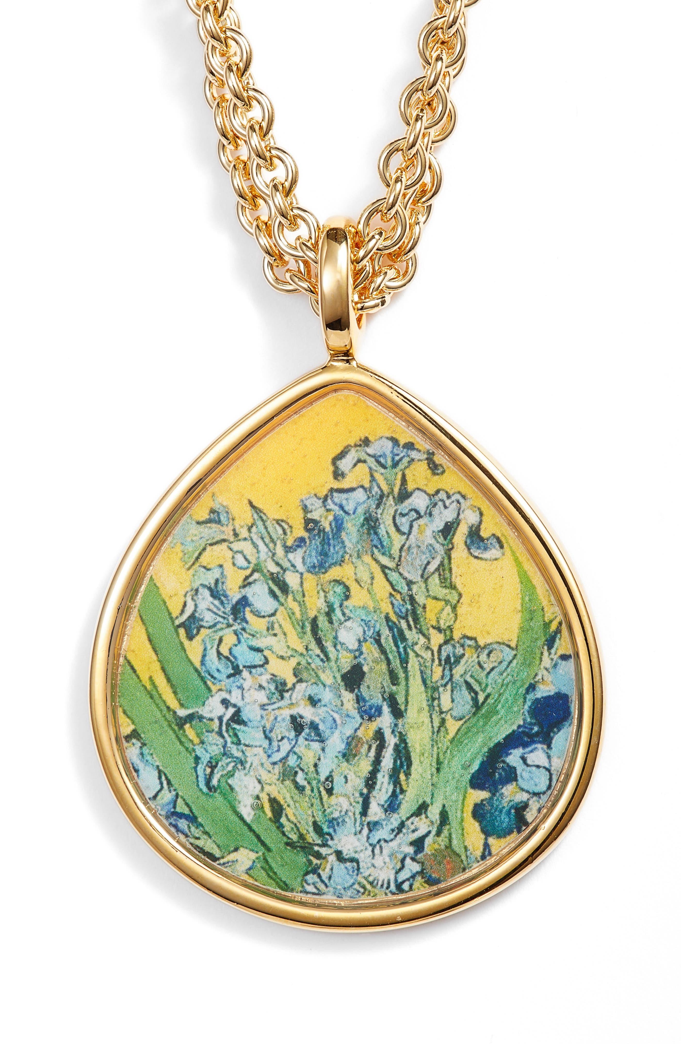 Irises Teardrop Pendant Necklace,                         Main,                         color, Multi