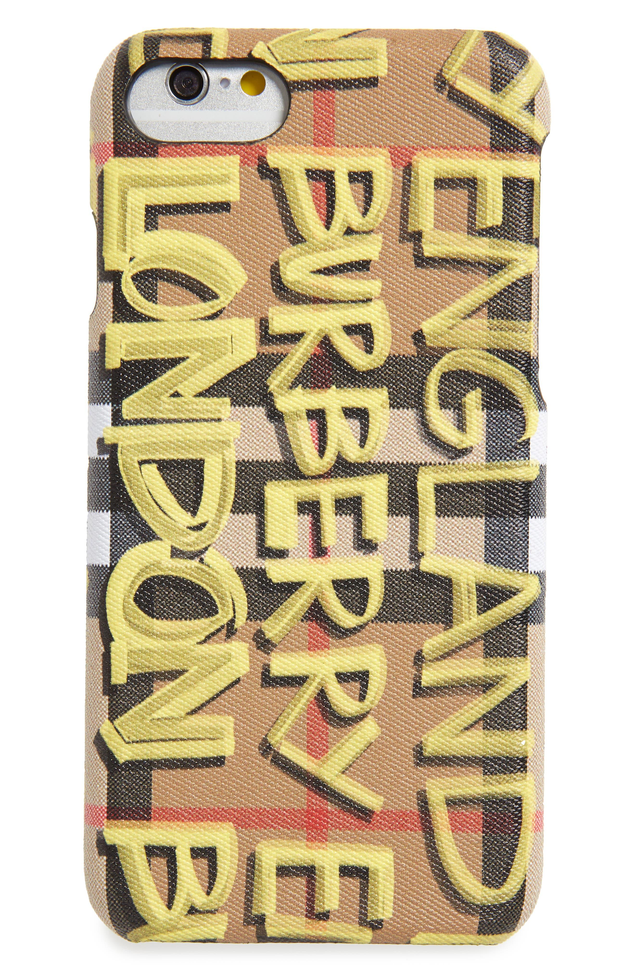 Burberry Rufus Graffiti Print iPhone 8 Case