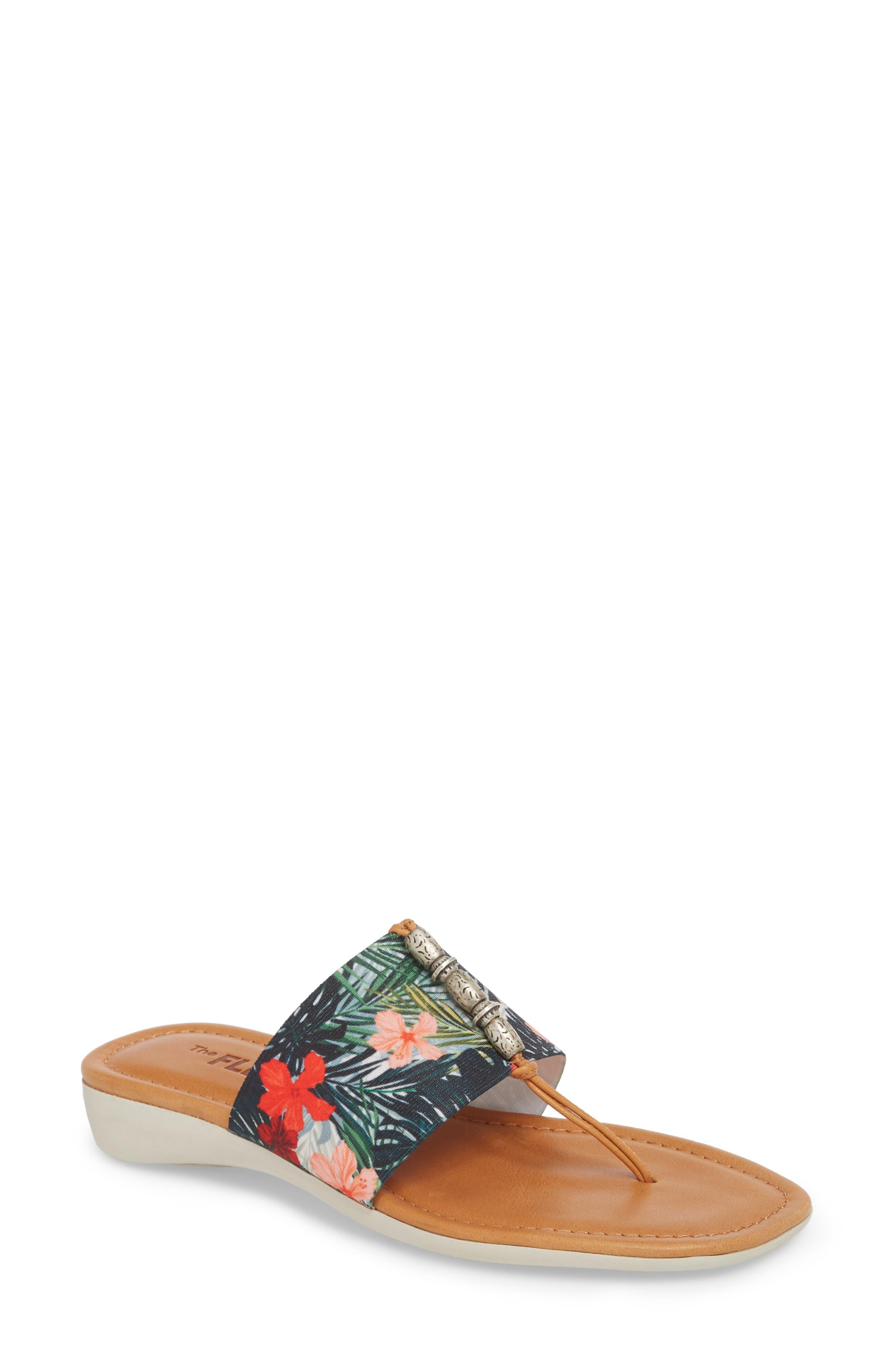 Rain Maker Sandal,                             Main thumbnail 1, color,                             Cognac Tropical Leather