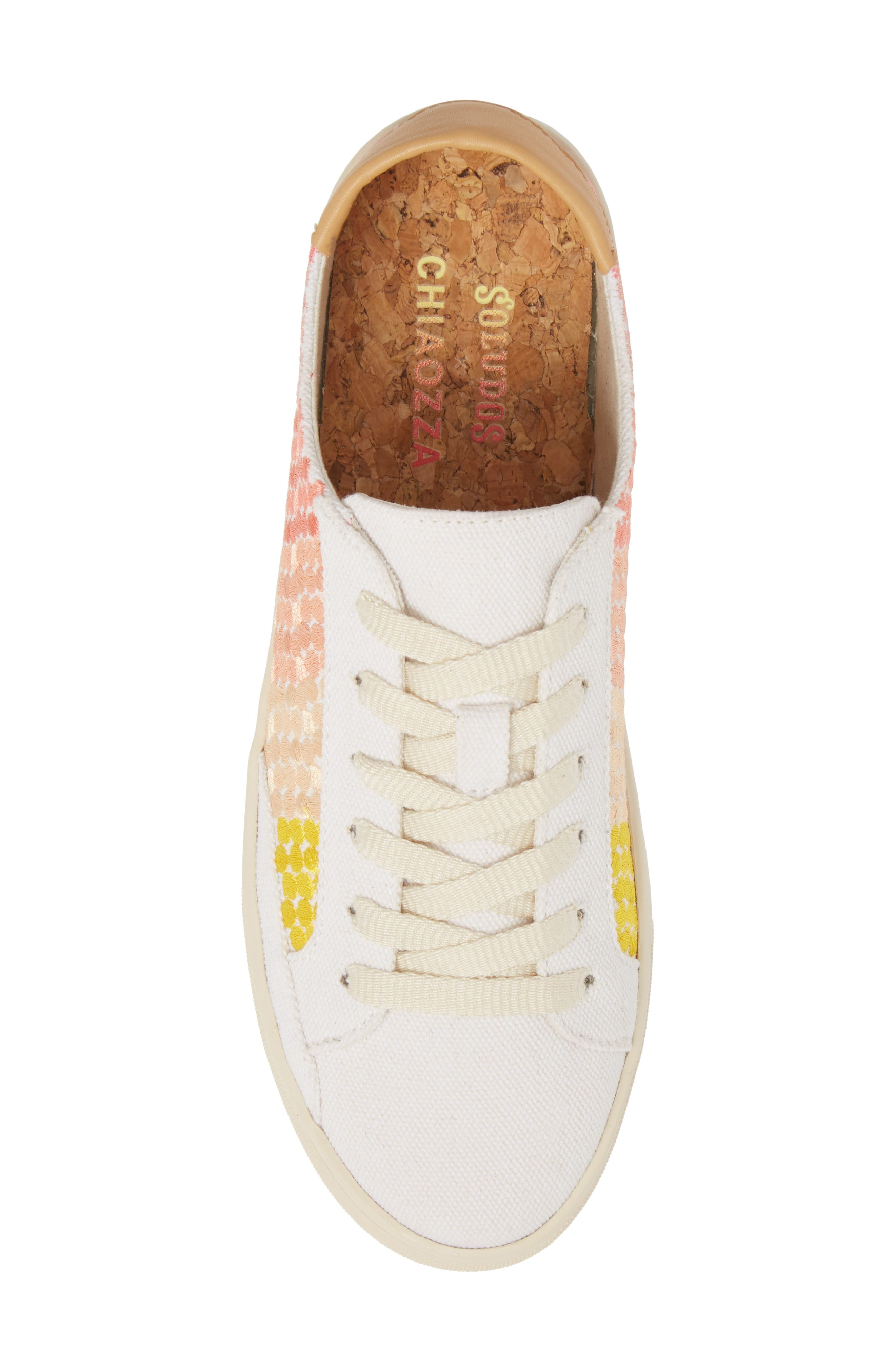 Embroidered Ombre Sneaker,                             Alternate thumbnail 5, color,                             Sunshine