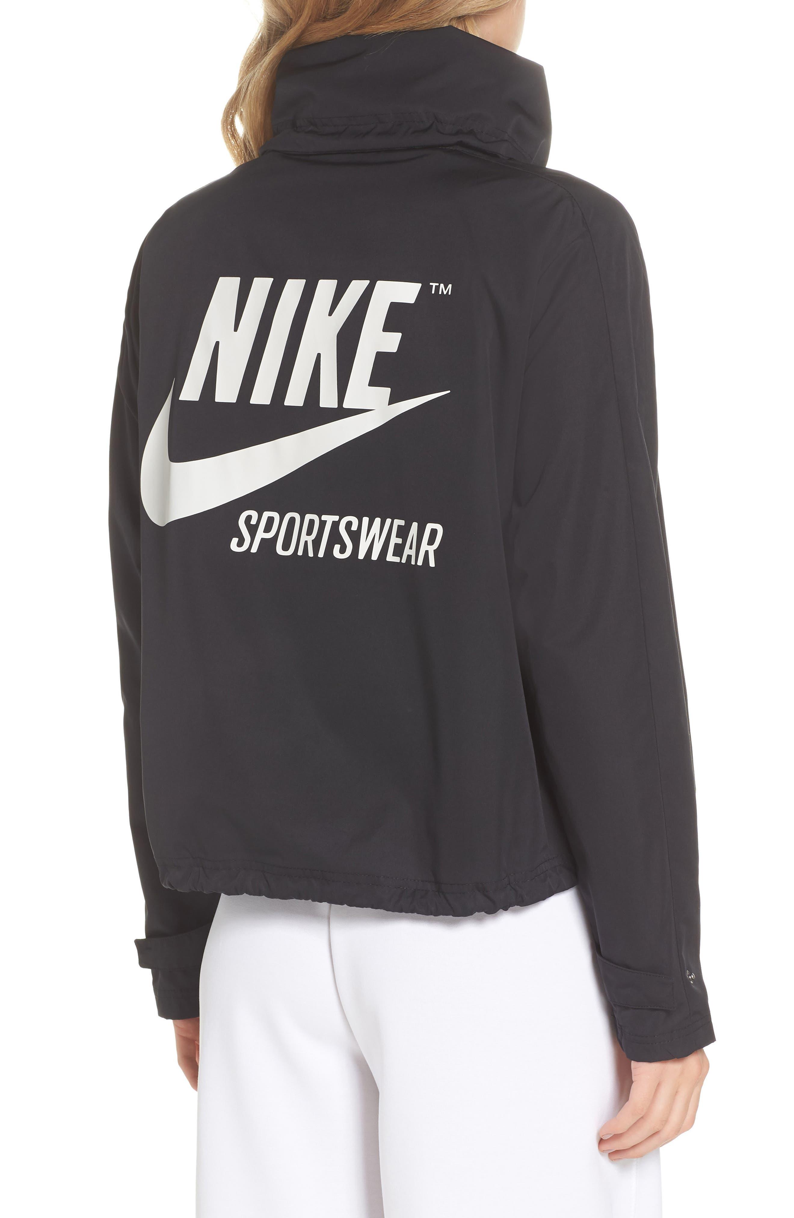 Sportswear Archive Jacket,                             Alternate thumbnail 2, color,                             Black/ Black