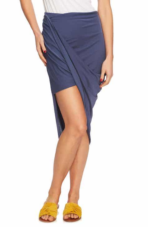 1.STATE Asymmetrical Wrap Style Skirt