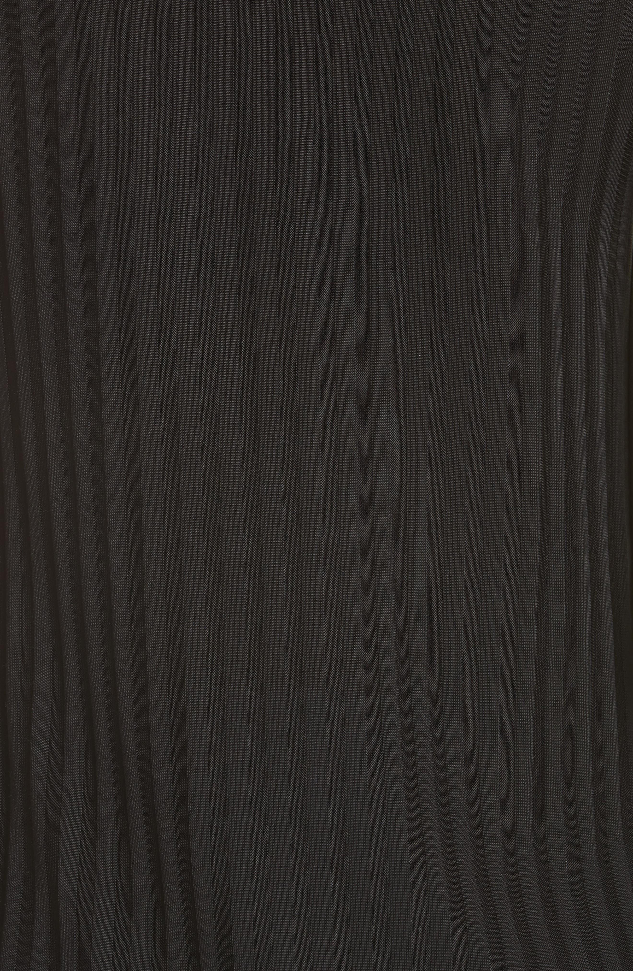 Ribbed Stretch Knit Tank,                             Alternate thumbnail 5, color,                             Noir