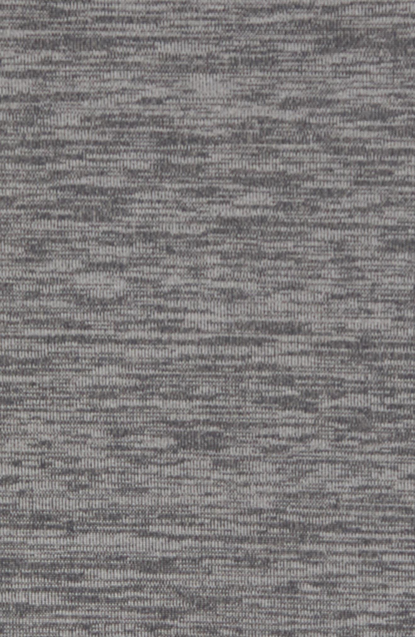 Core Half Zip Sweatshirt,                             Alternate thumbnail 5, color,                             Black Pepper Spacedye