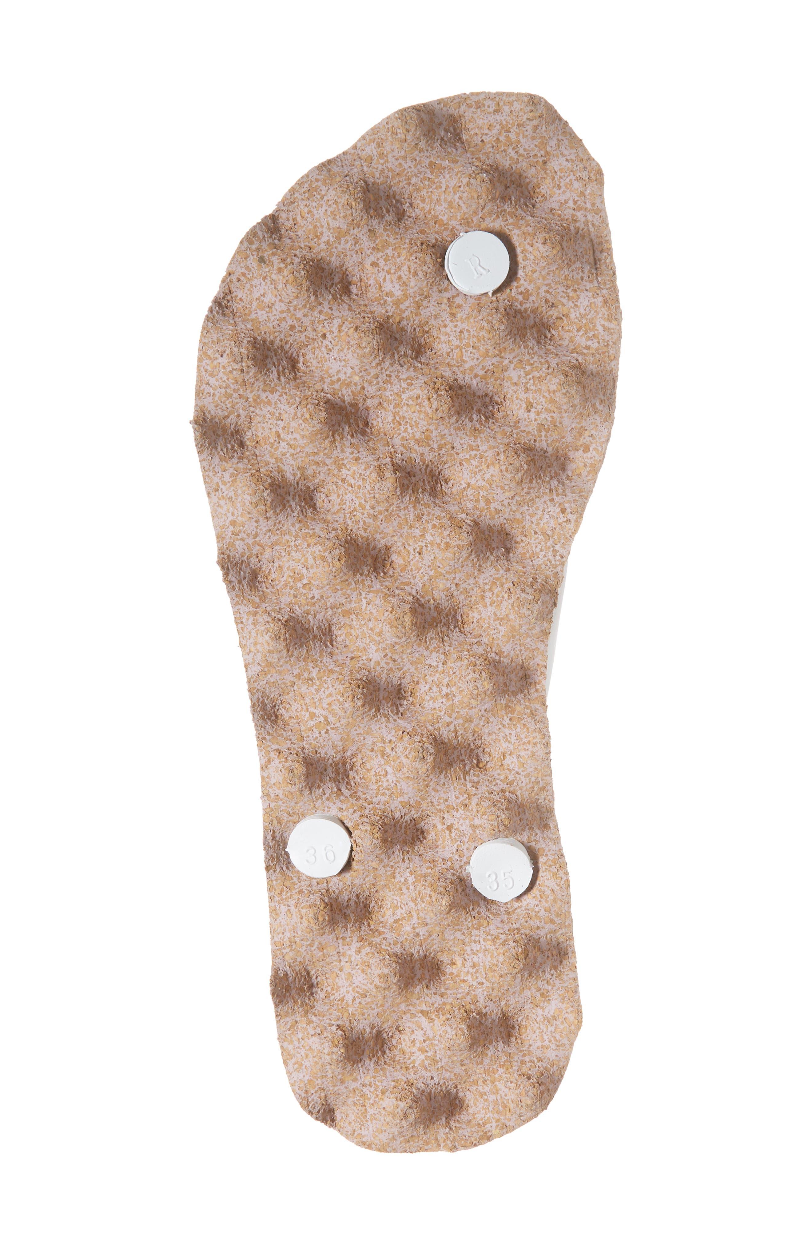 Spot 002 Flip Flop,                             Alternate thumbnail 6, color,                             White/ Rose Fabric