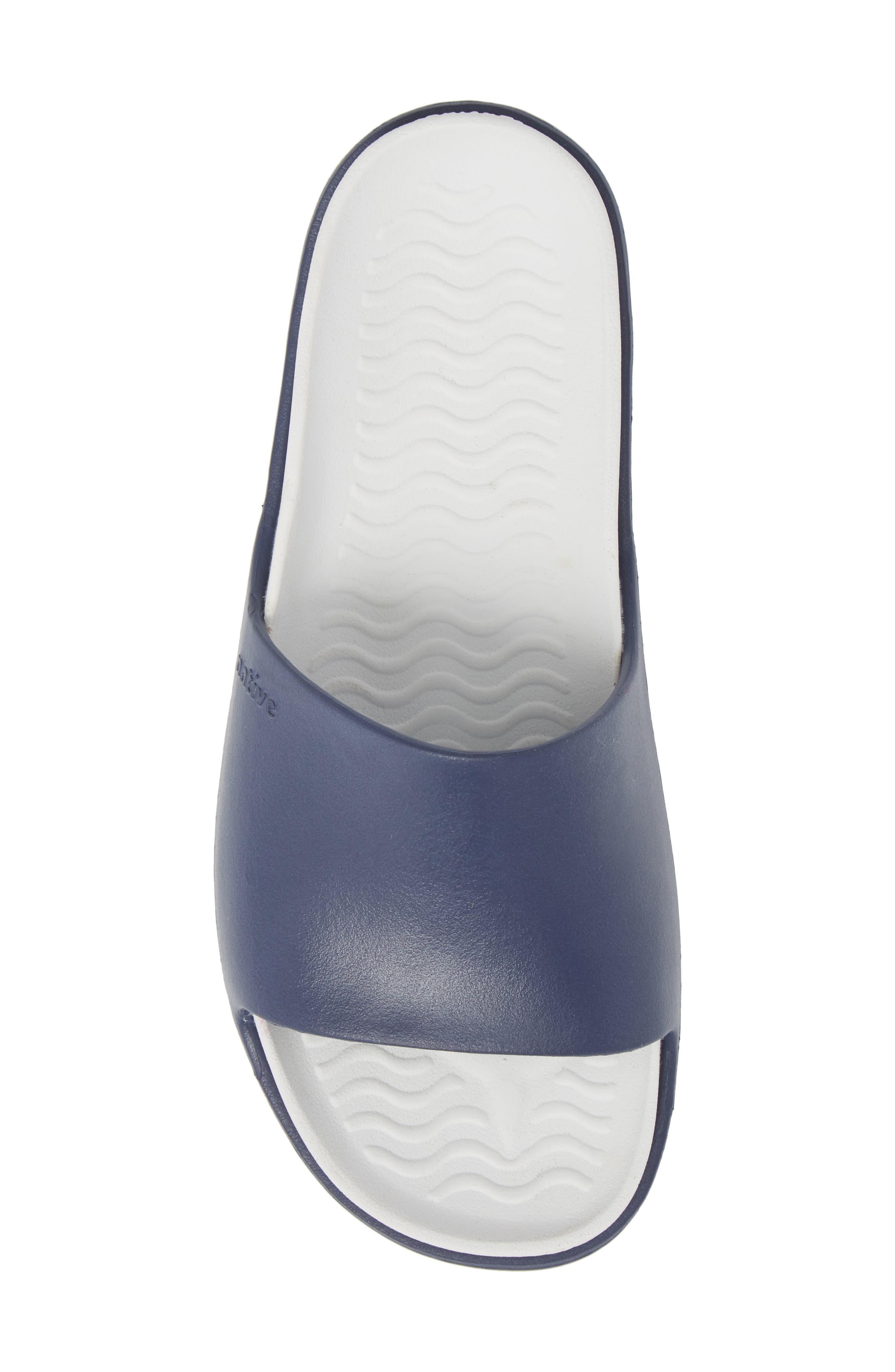 Spencer LX Sport Slide,                             Alternate thumbnail 5, color,                             Regatta Blue/ Shell White