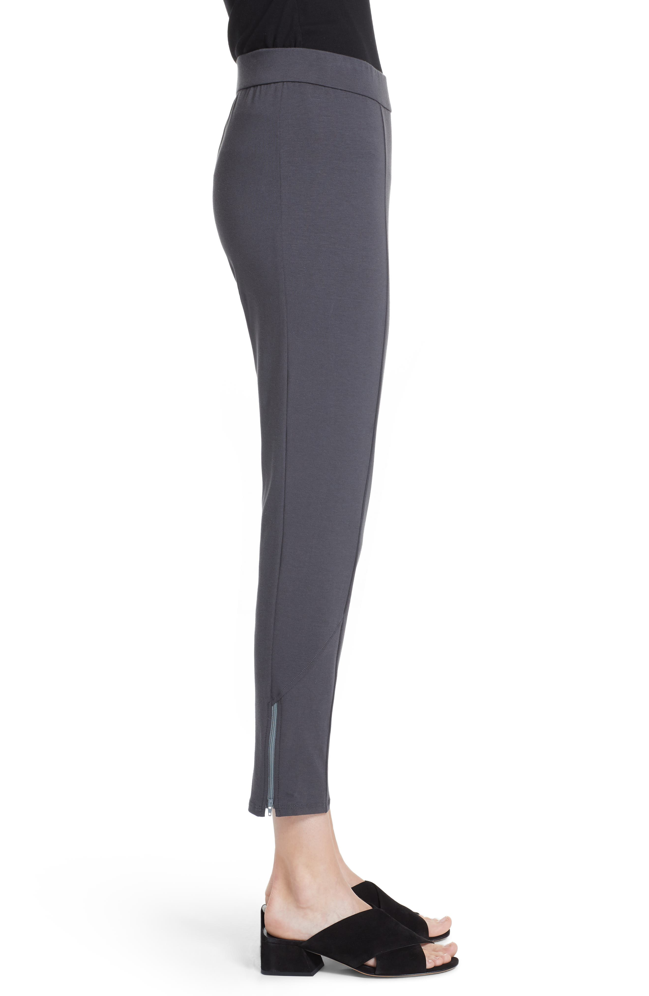 Slim Stretch Cotton Pants,                             Alternate thumbnail 3, color,                             Graphite