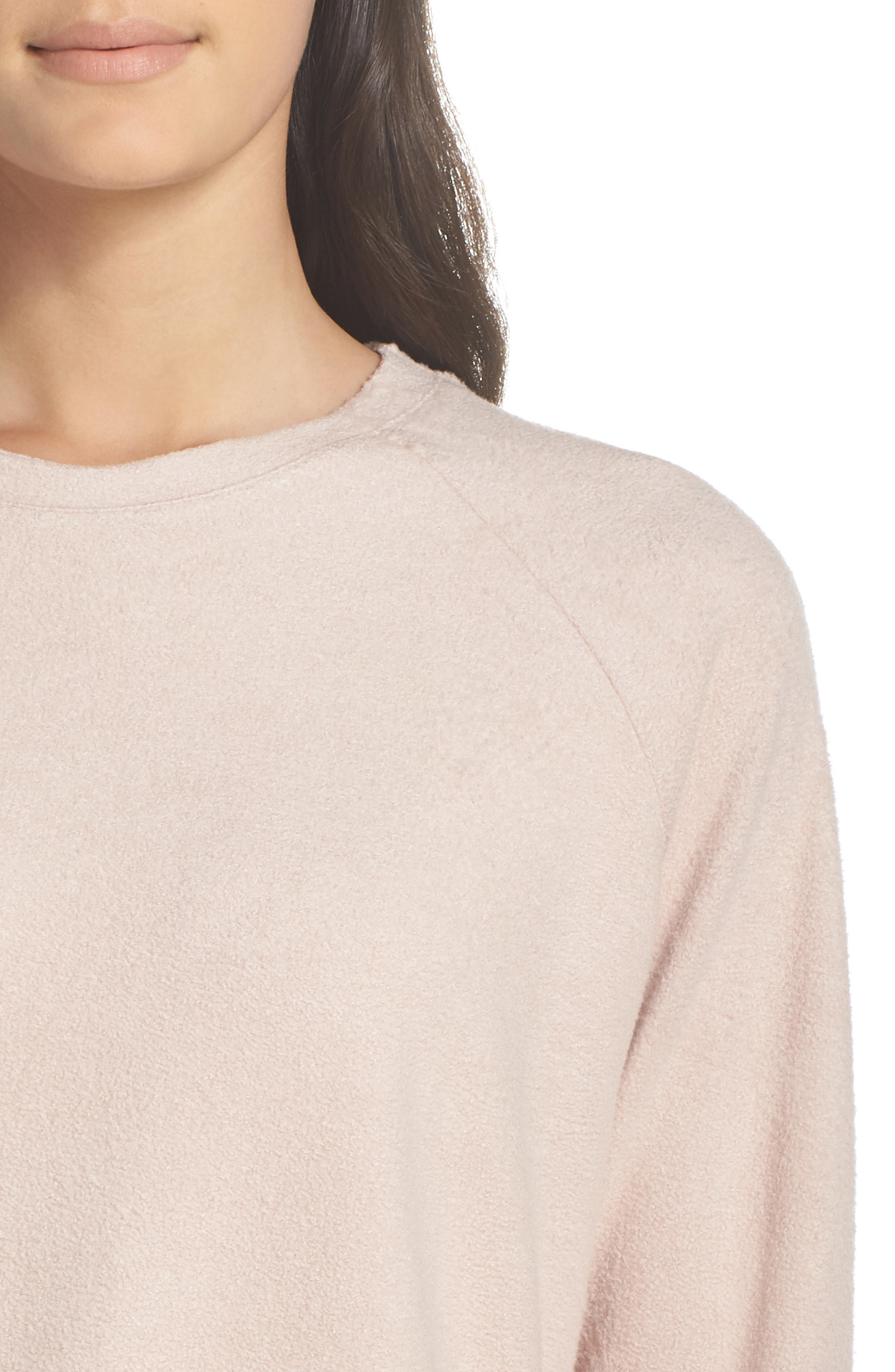 Slouchy Sweatshirt,                             Alternate thumbnail 6, color,                             Dusty Pink
