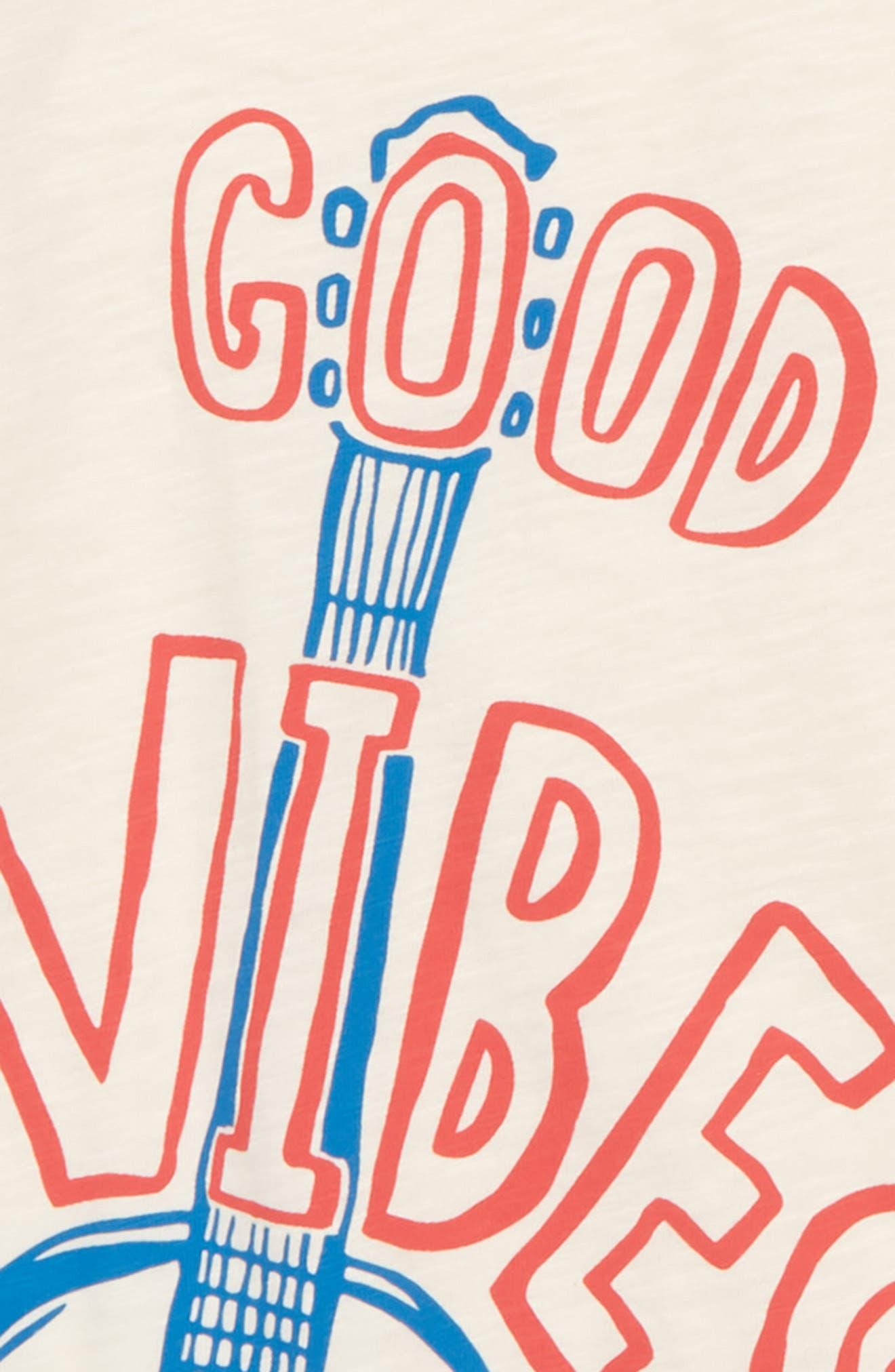 Good Vibes Graphic T-Shirt,                             Alternate thumbnail 2, color,                             Ecru/ Jam Red Guitar