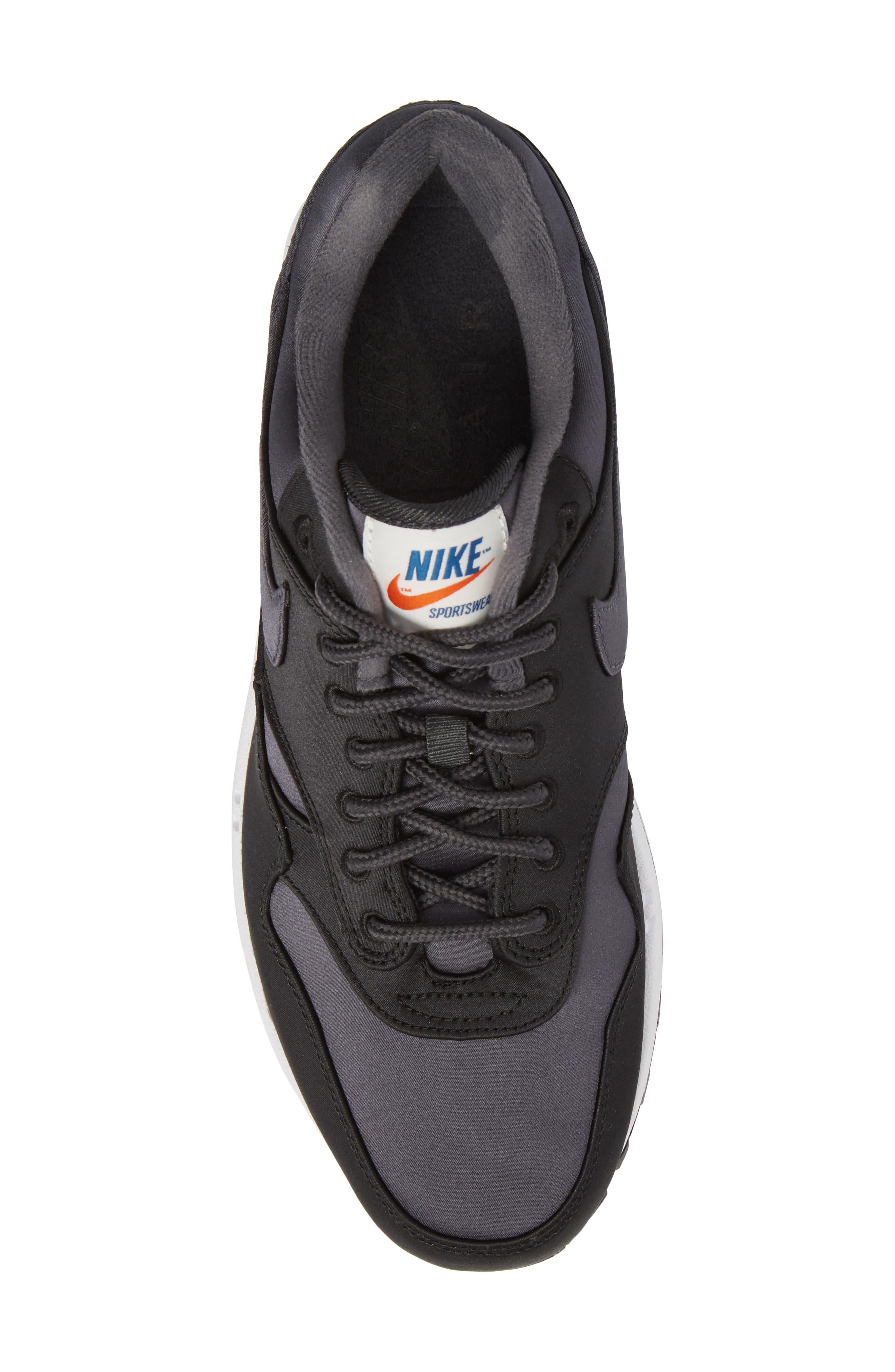 Air Max 1 SE Sneaker,                             Alternate thumbnail 5, color,                             Black/ Anthracite/ White
