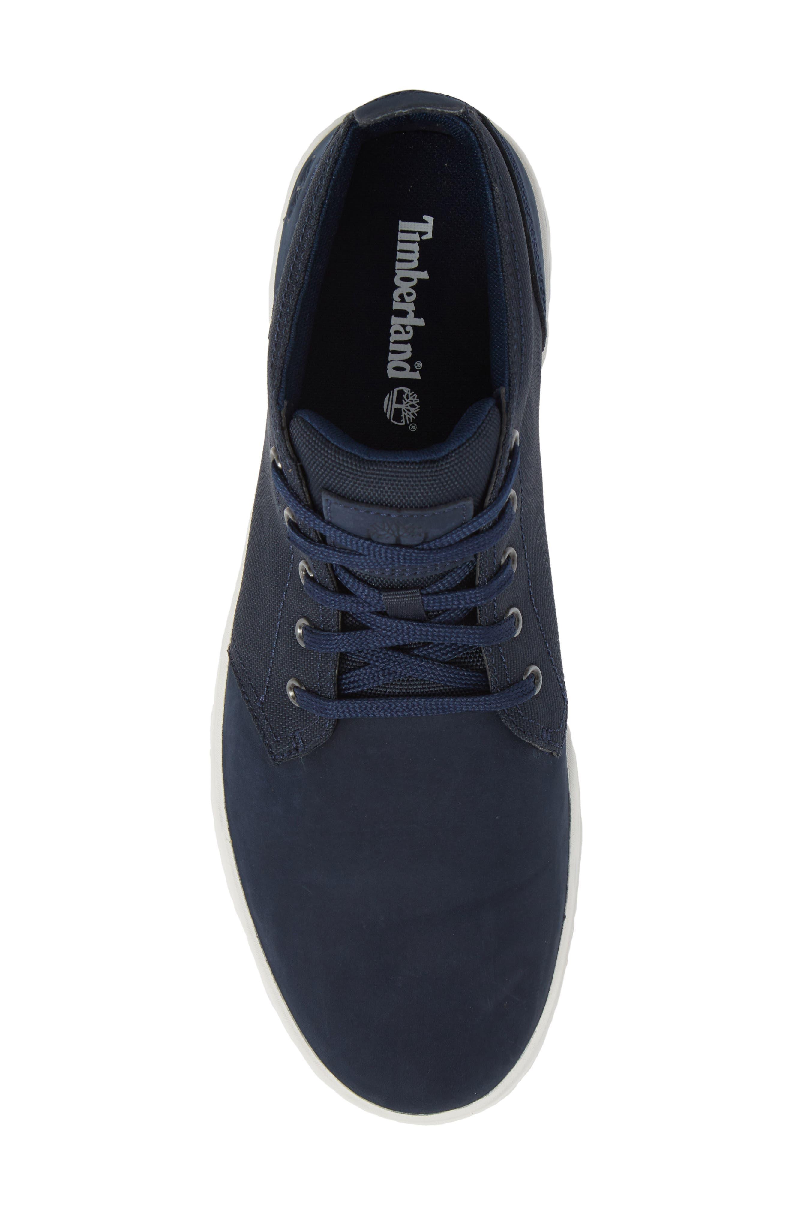 Davis Square Mid Top Sneaker,                             Alternate thumbnail 3, color,                             Black/ Blue